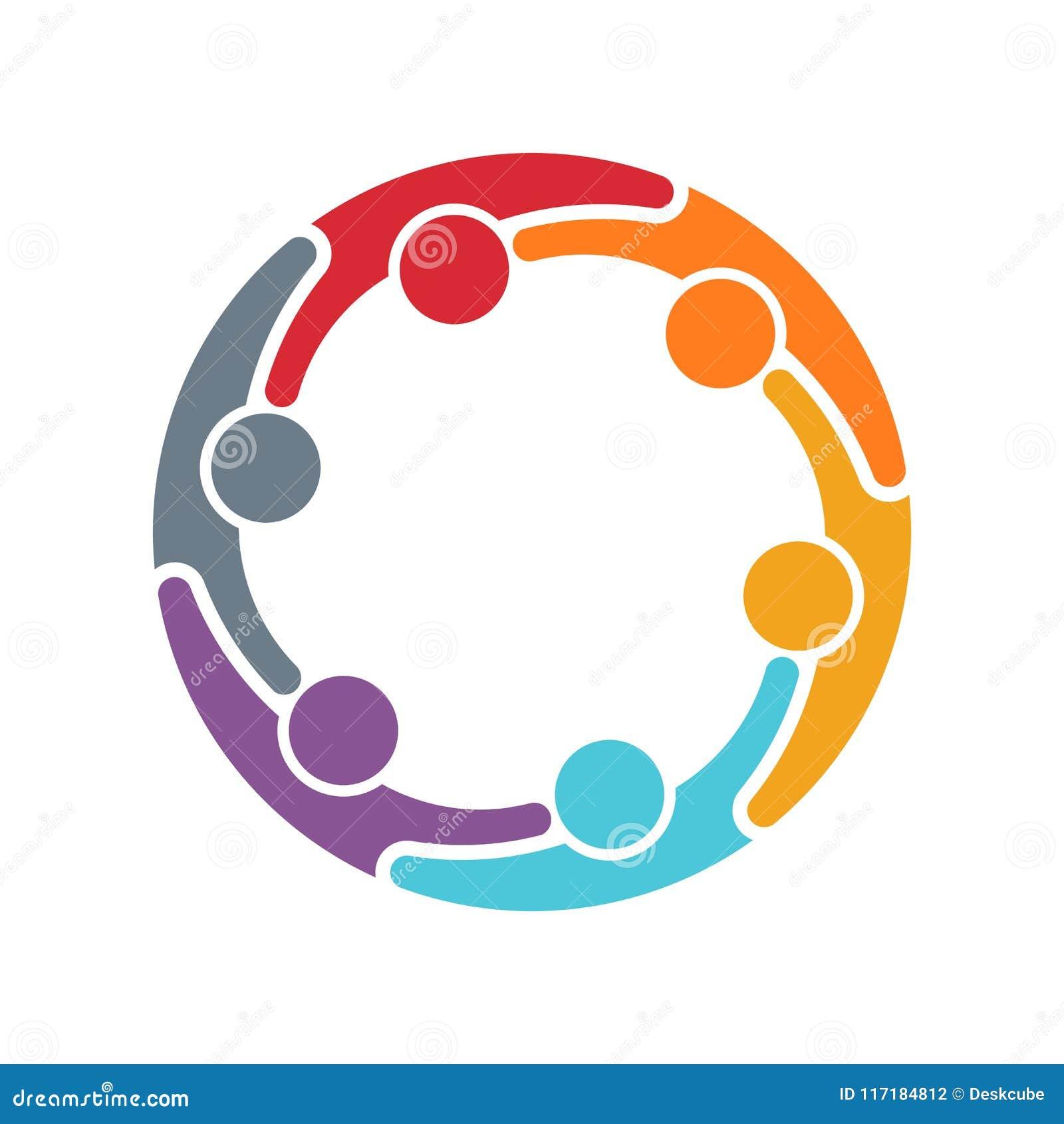 Logo della famiglia della gente illustrazione di progettazione di vettore
