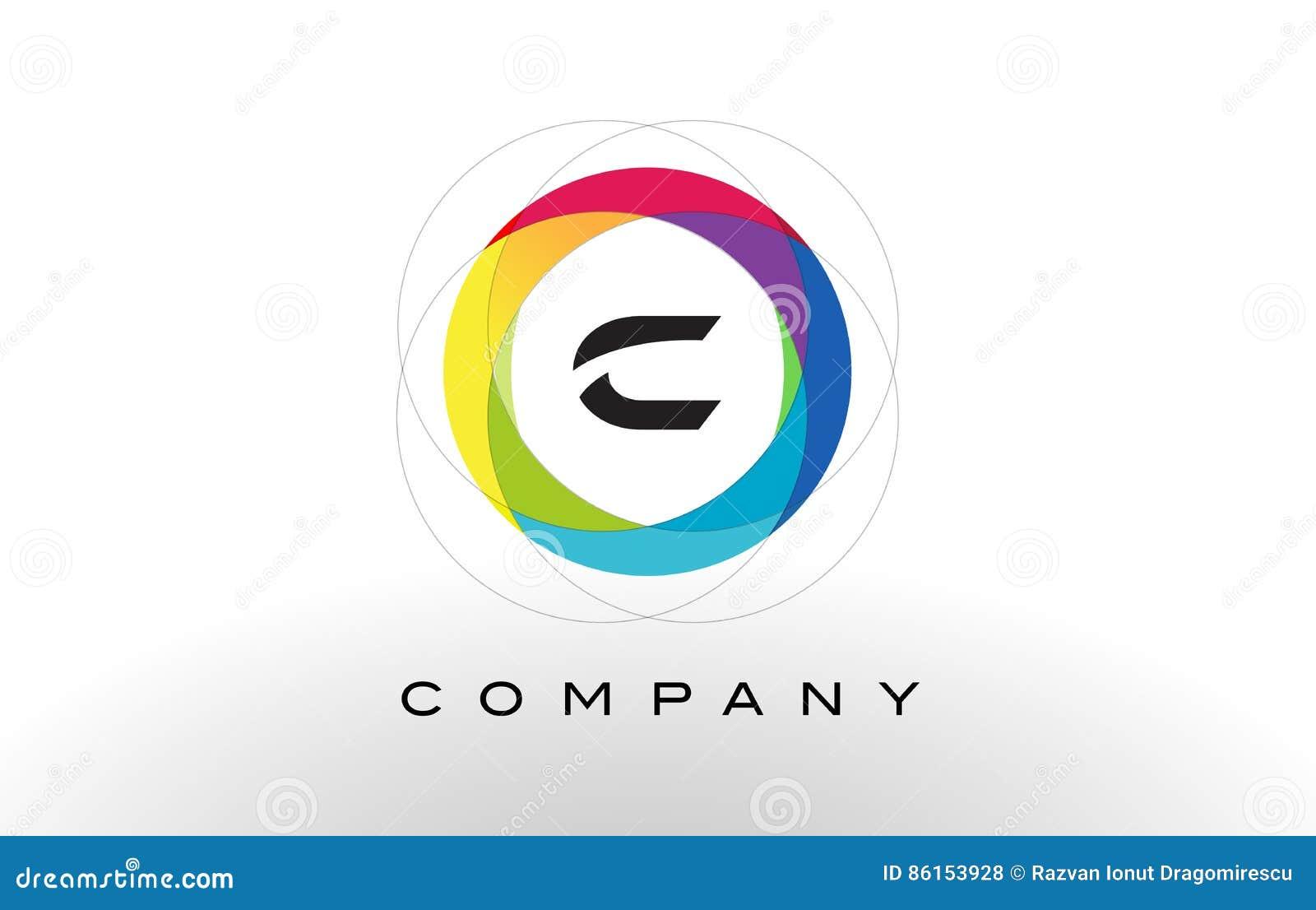 Logo Della Lettera Di C Con Progettazione Del Cerchio Dell