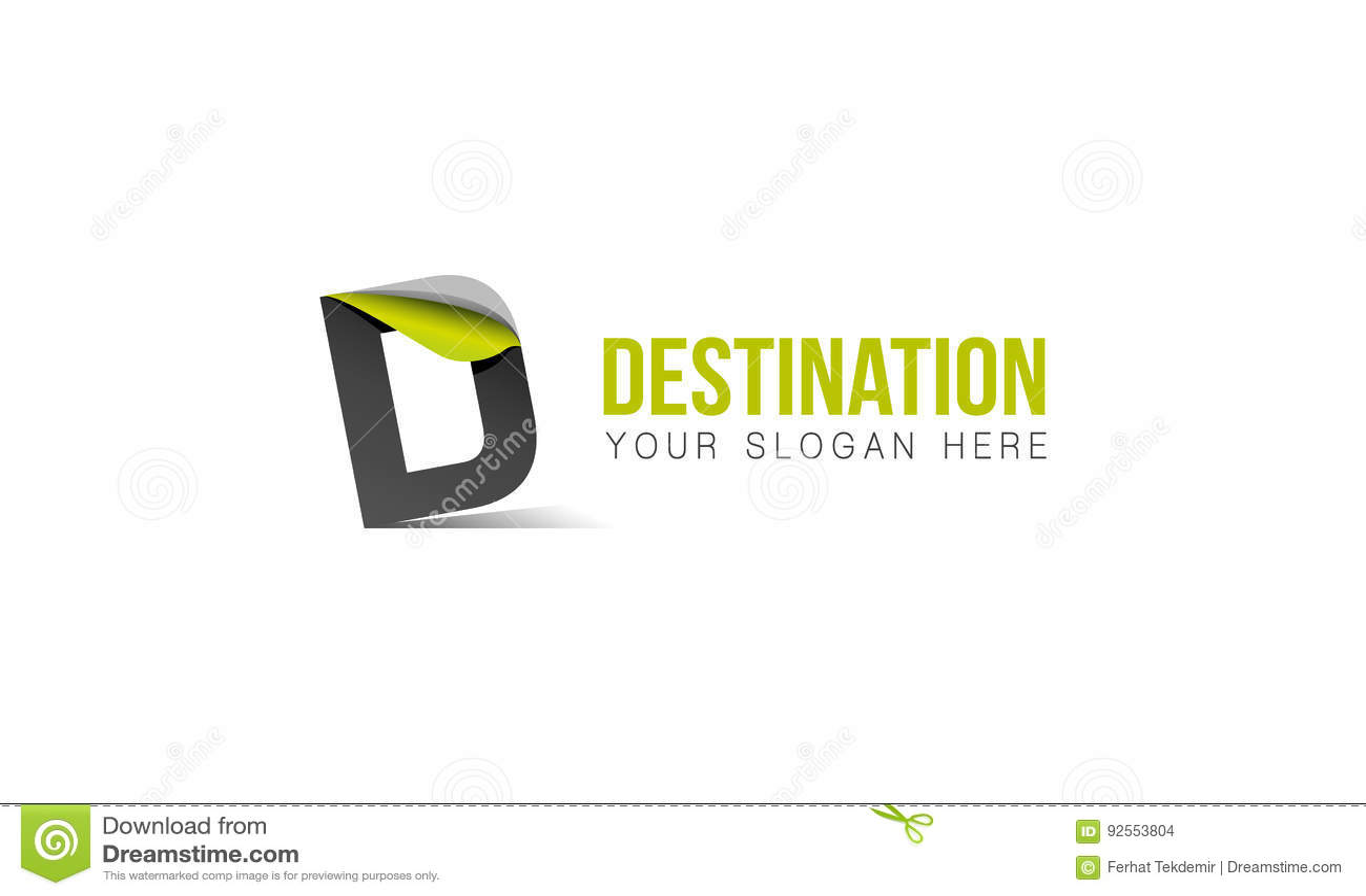 Logo della lettera di D