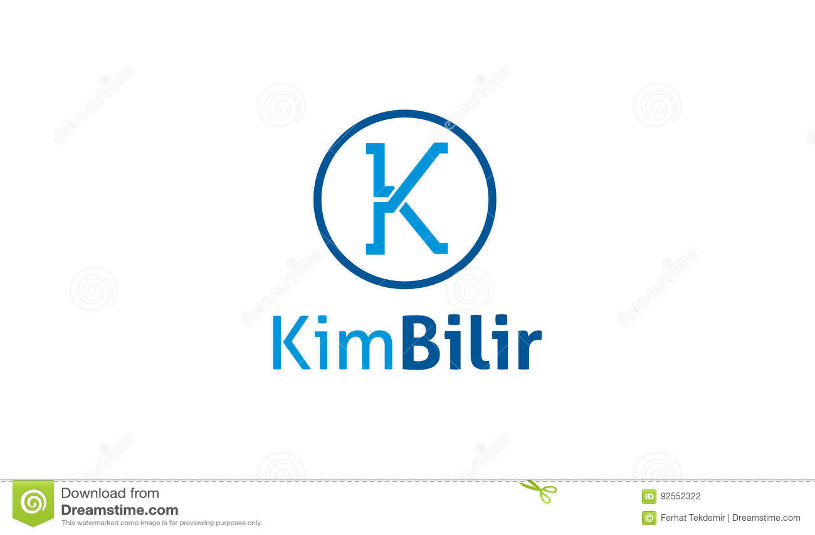 Logo della lettera di K
