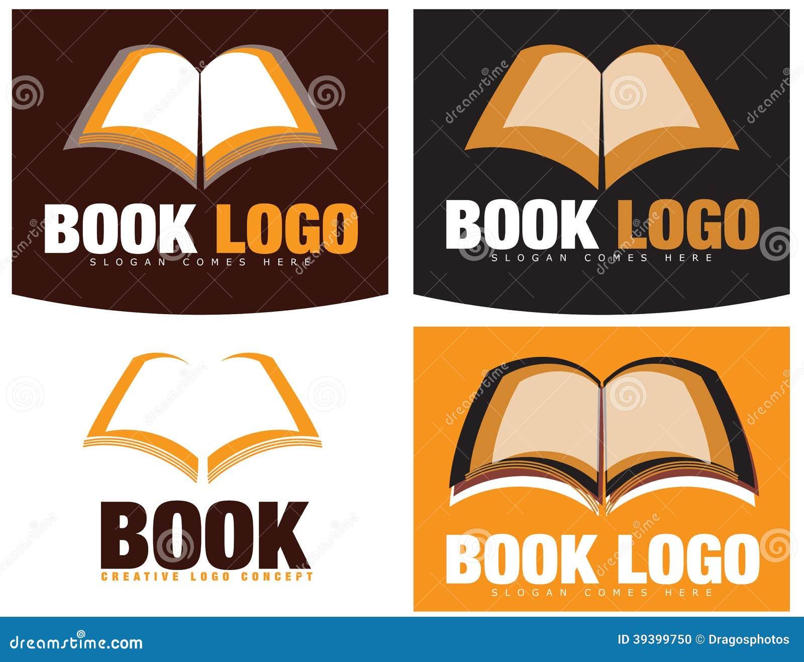 Book logos stock vector image 42714029 - Logo Della Libreria O Del Libro Fotografia Stock