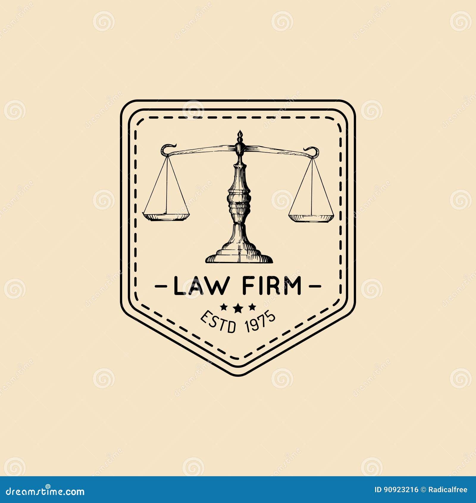 Logo Dello Studio Legale Con Lillustrazione Della Bilancia Della