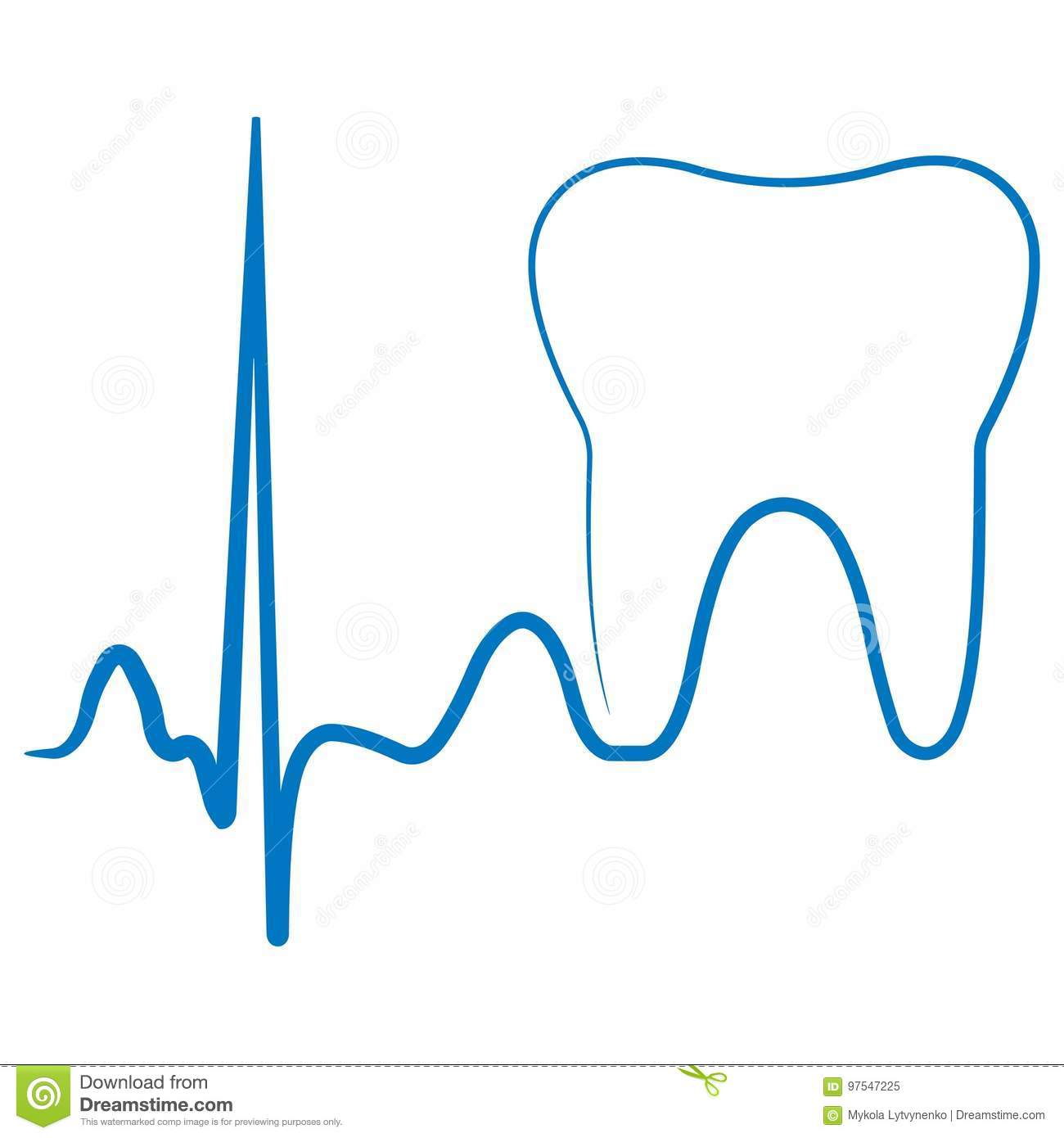 Logo For The Dental Clinic Office The Impulse Turning Into A Tooth Molar Stock Illustration Illustration Of Blue Clean 97547225