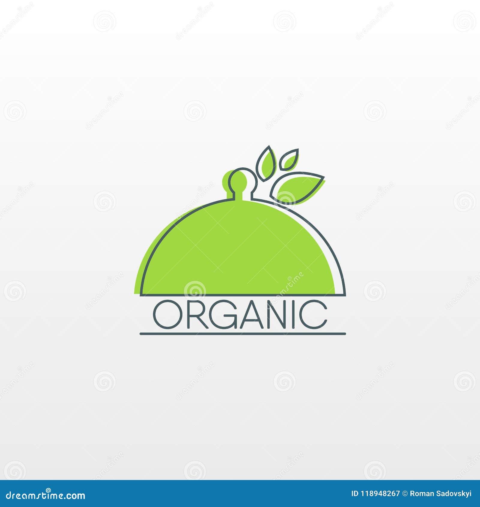 Logo des biologischen Lebensmittels Gesunde Lebensmittelikone