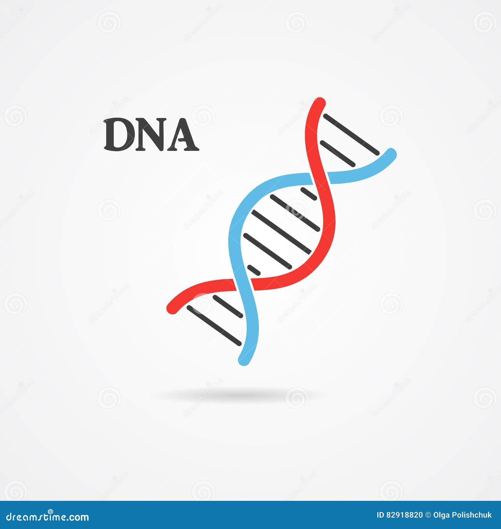 Logo design, abstract logo, DNA symbol