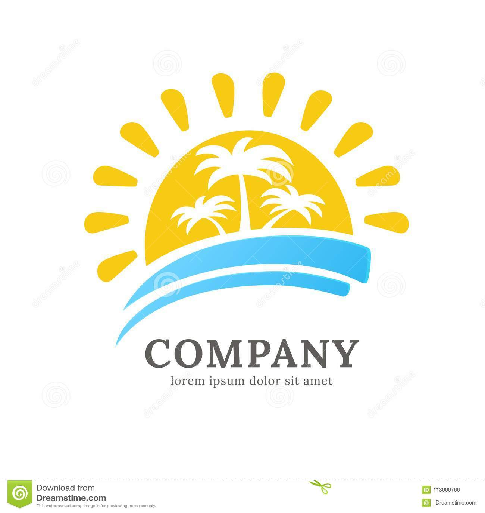 logo design abstract resort vector template illustration design of