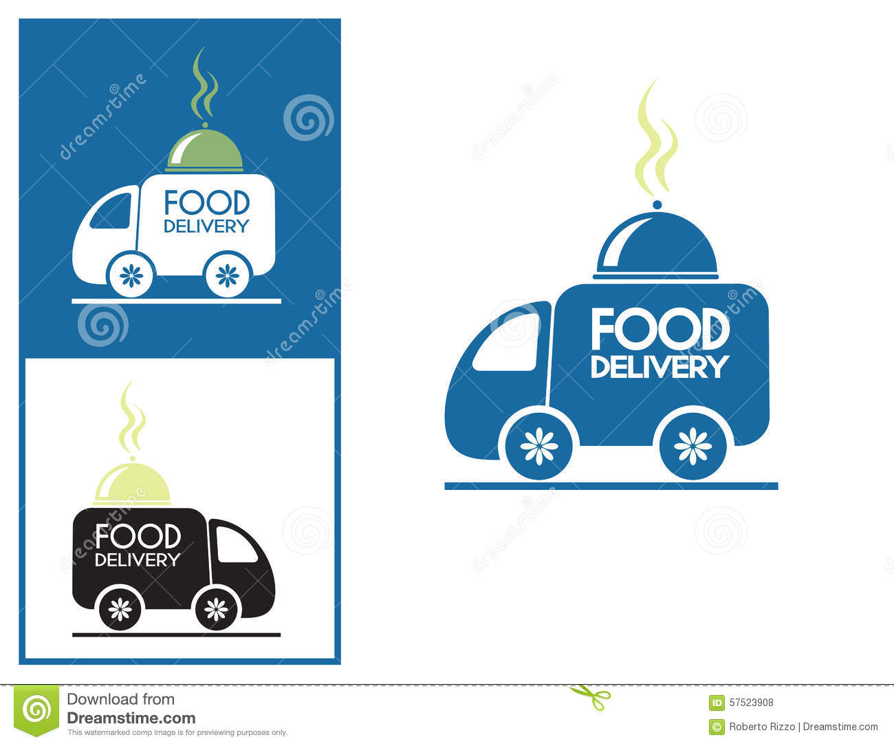 Fast Delivery Service Logo For Food Orders Stock Vector ...