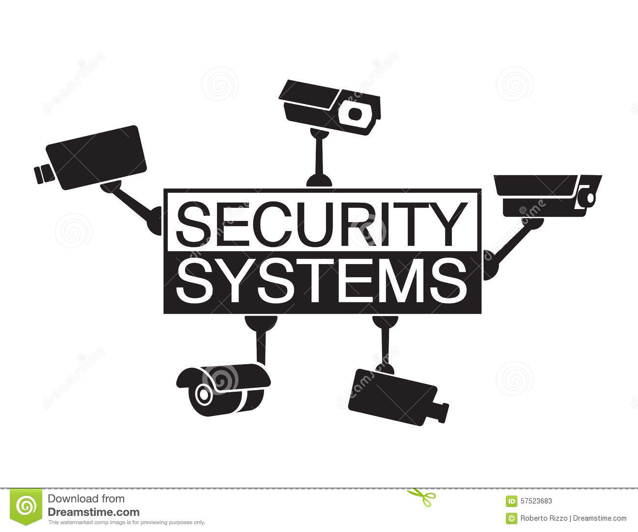 Logo Design Element Security Systems Stock Photo Image