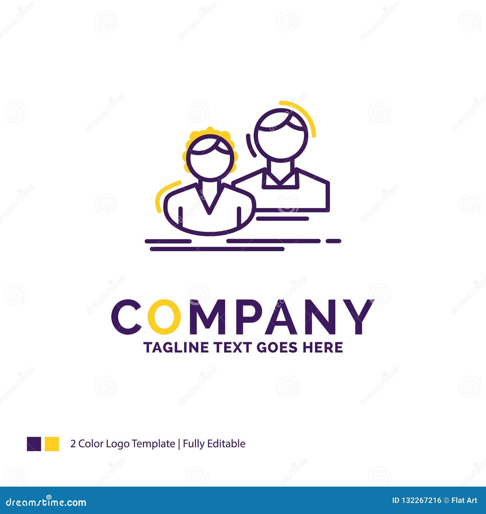 Logo Design For för företagsnamn student, anställd, grupp, par, t
