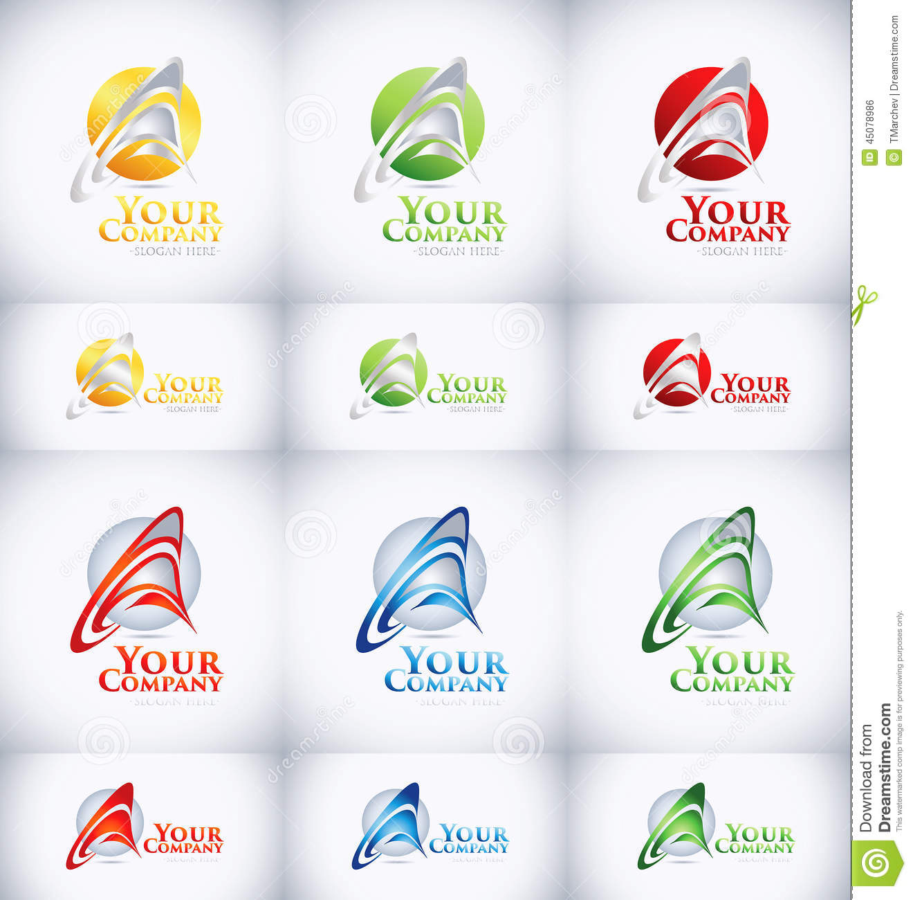 Logo Design In Many Color Combinations