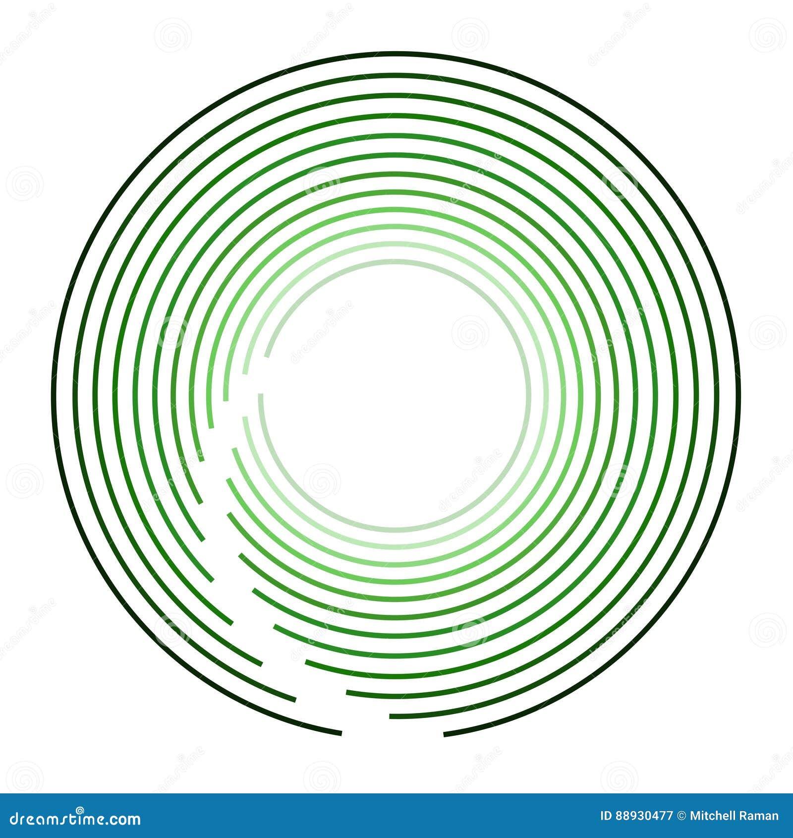 Logo Design moderno verde circular