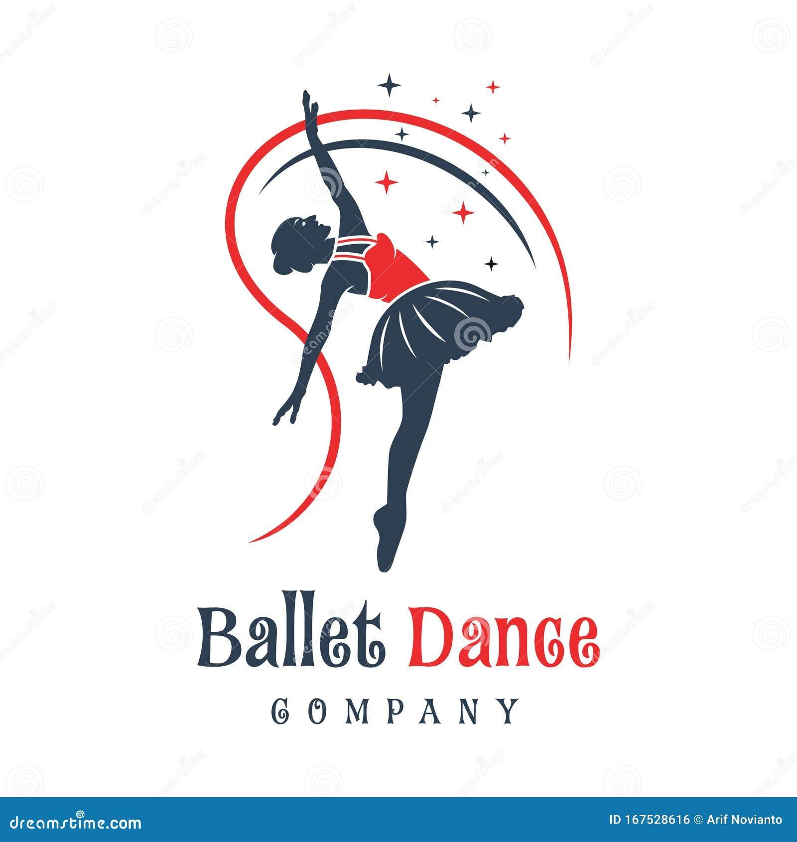 Logo Design Of People Dancing Ballet Stock Vector ...