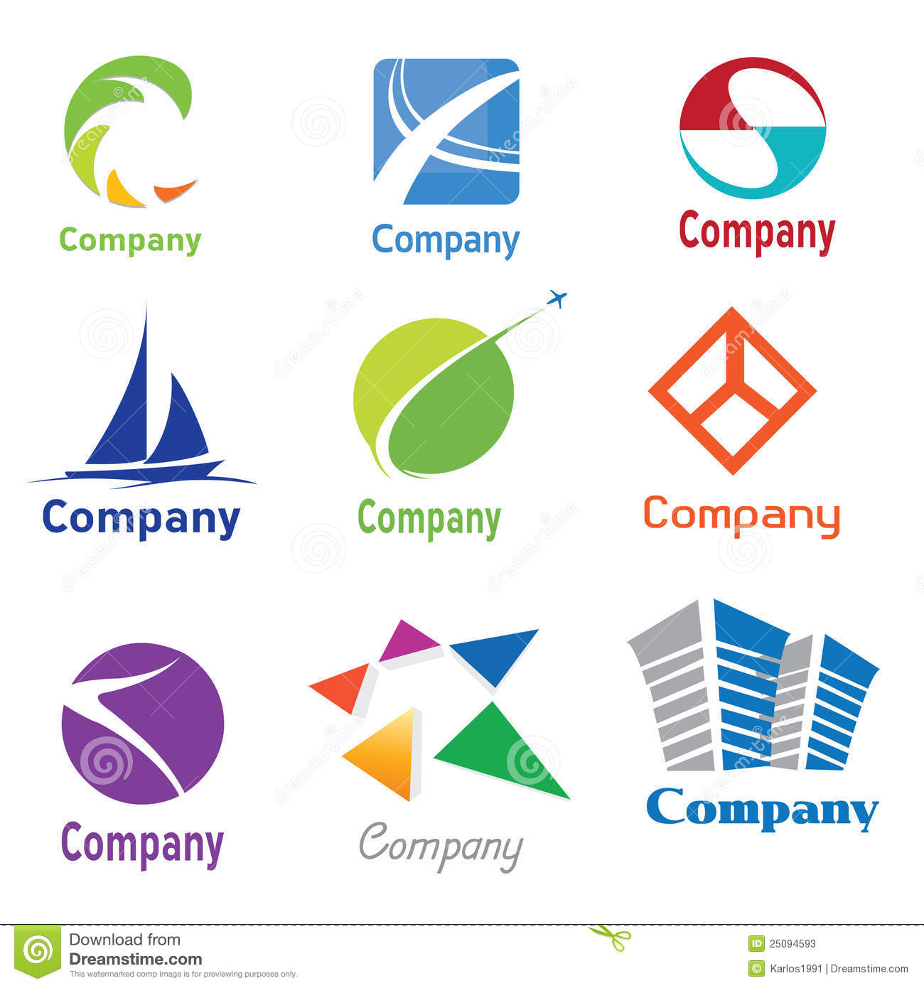 Logo design samples 01 stock vector illustration of glossy 25094593 logo design samples 01 thecheapjerseys Image collections