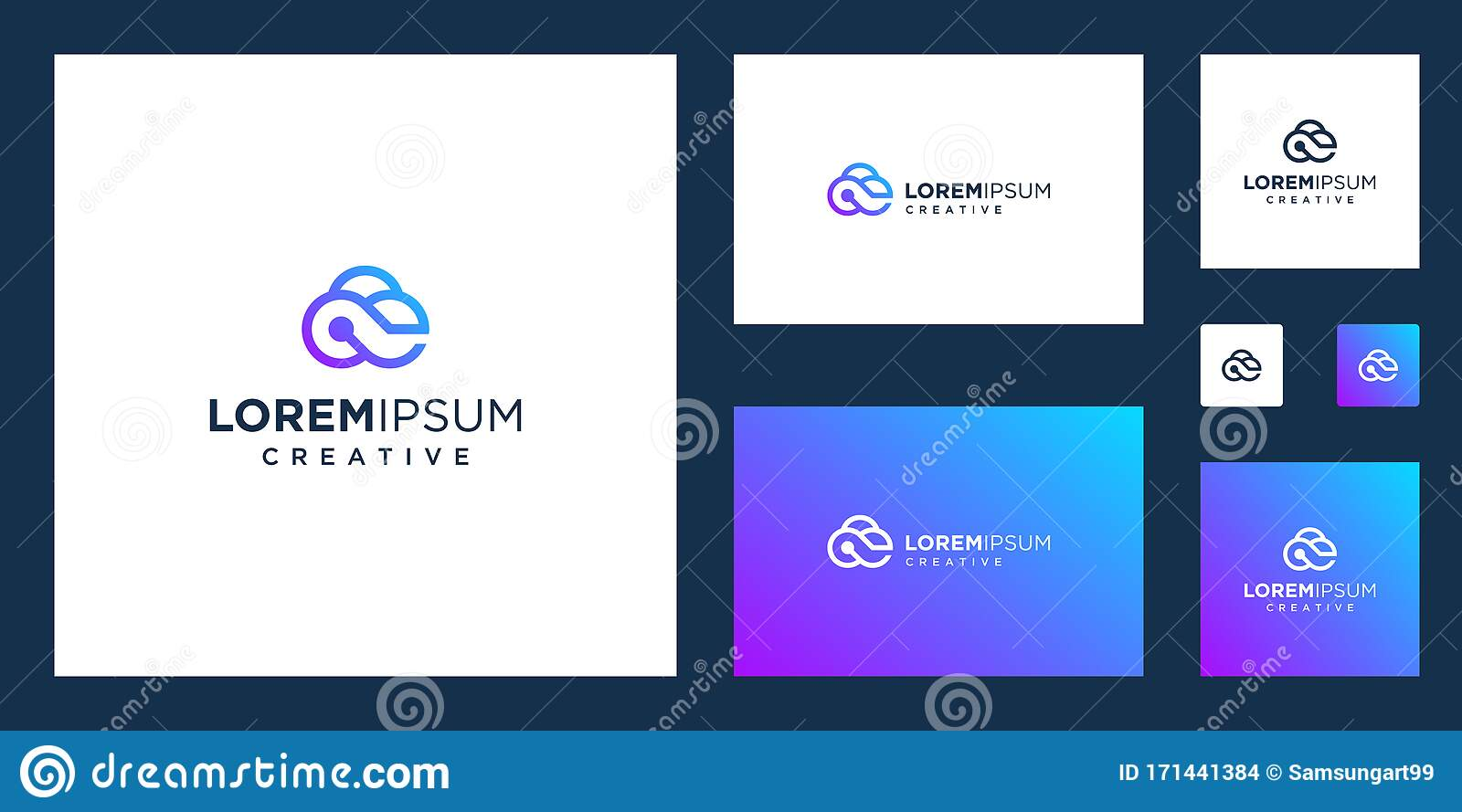 Cloud Tech With Infinity Concept Logo Design Technology Stock Vector Illustration Of Graphic Logo 171441384