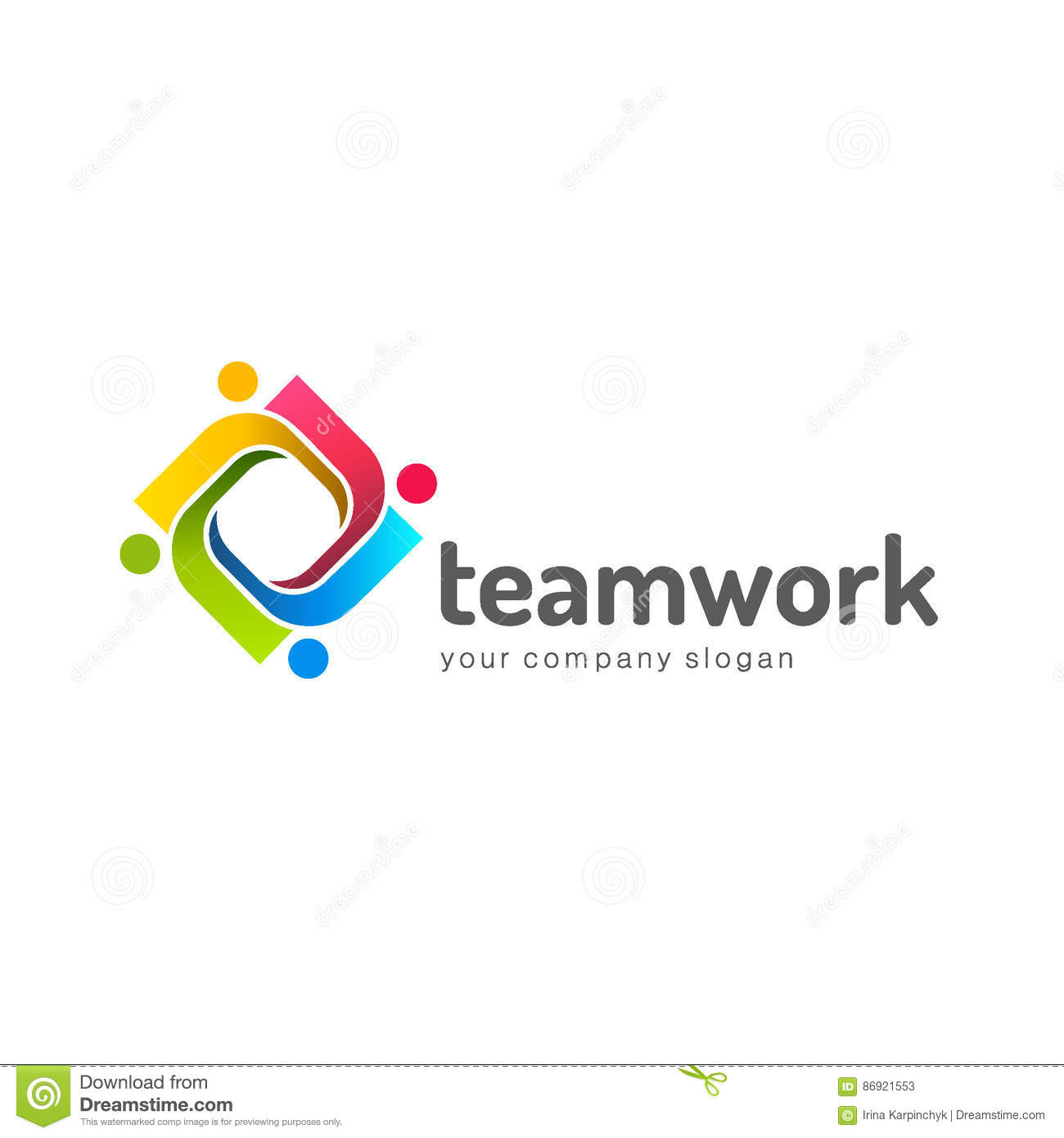 Logo Design Vector Template. Teamwork. Partnership. Friendship ...