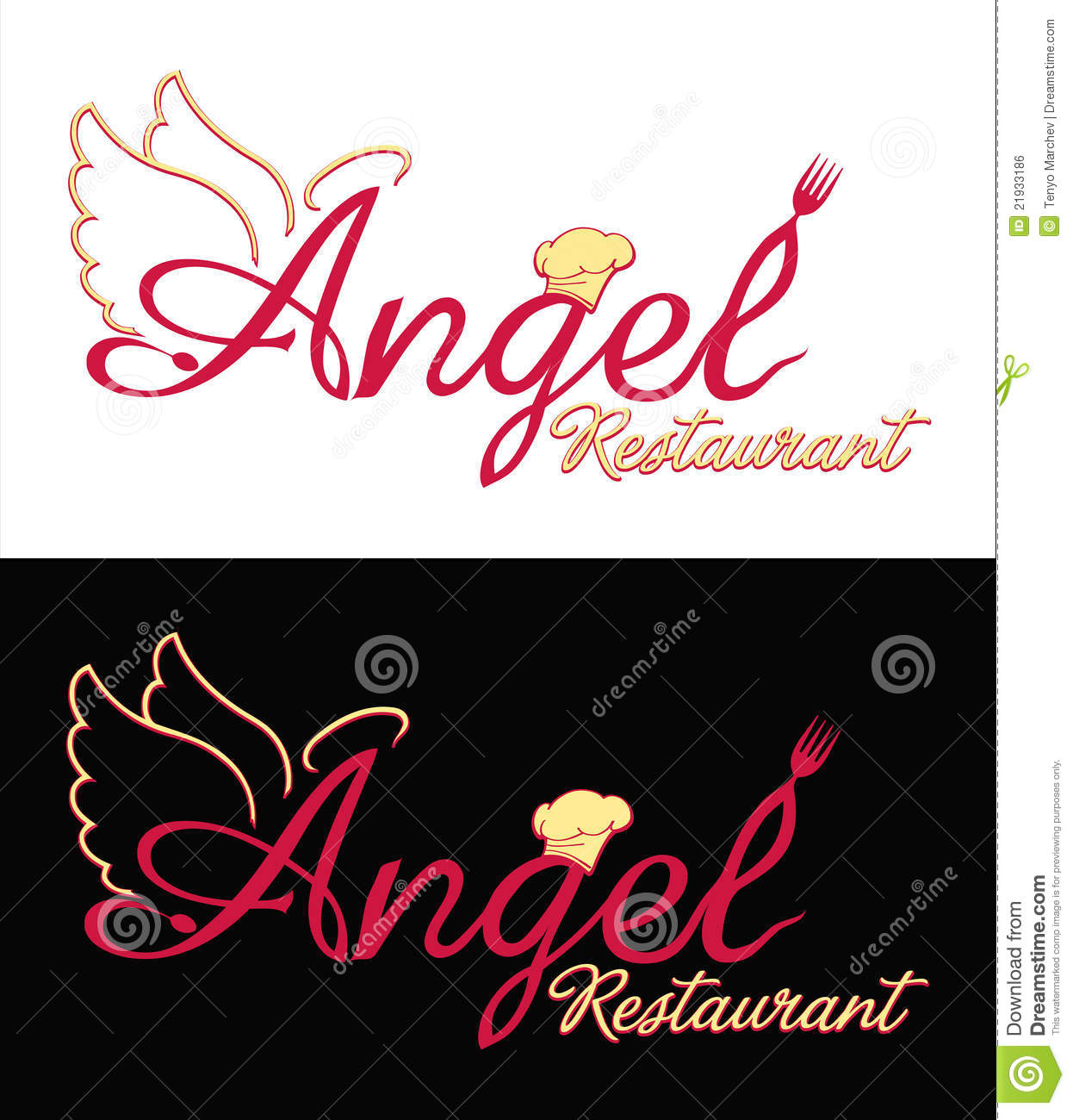 Logo design for your restaurant royalty free stock image