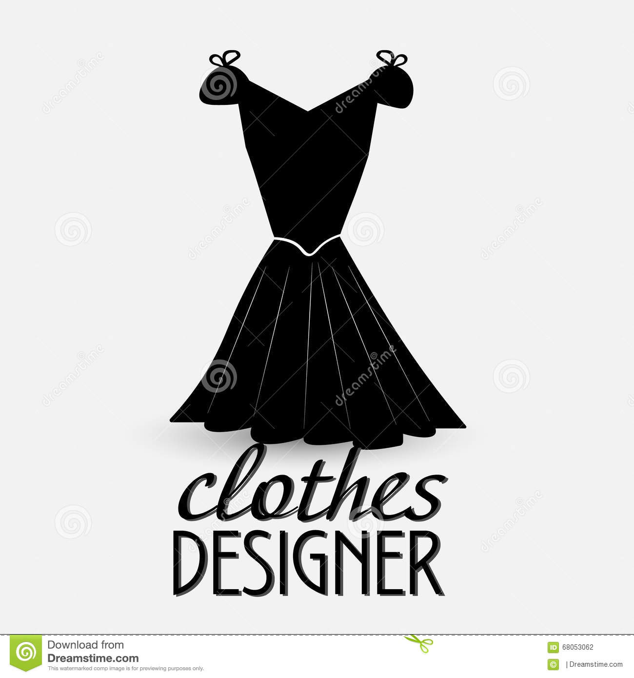 logo for designer clothes stock vector illustration of