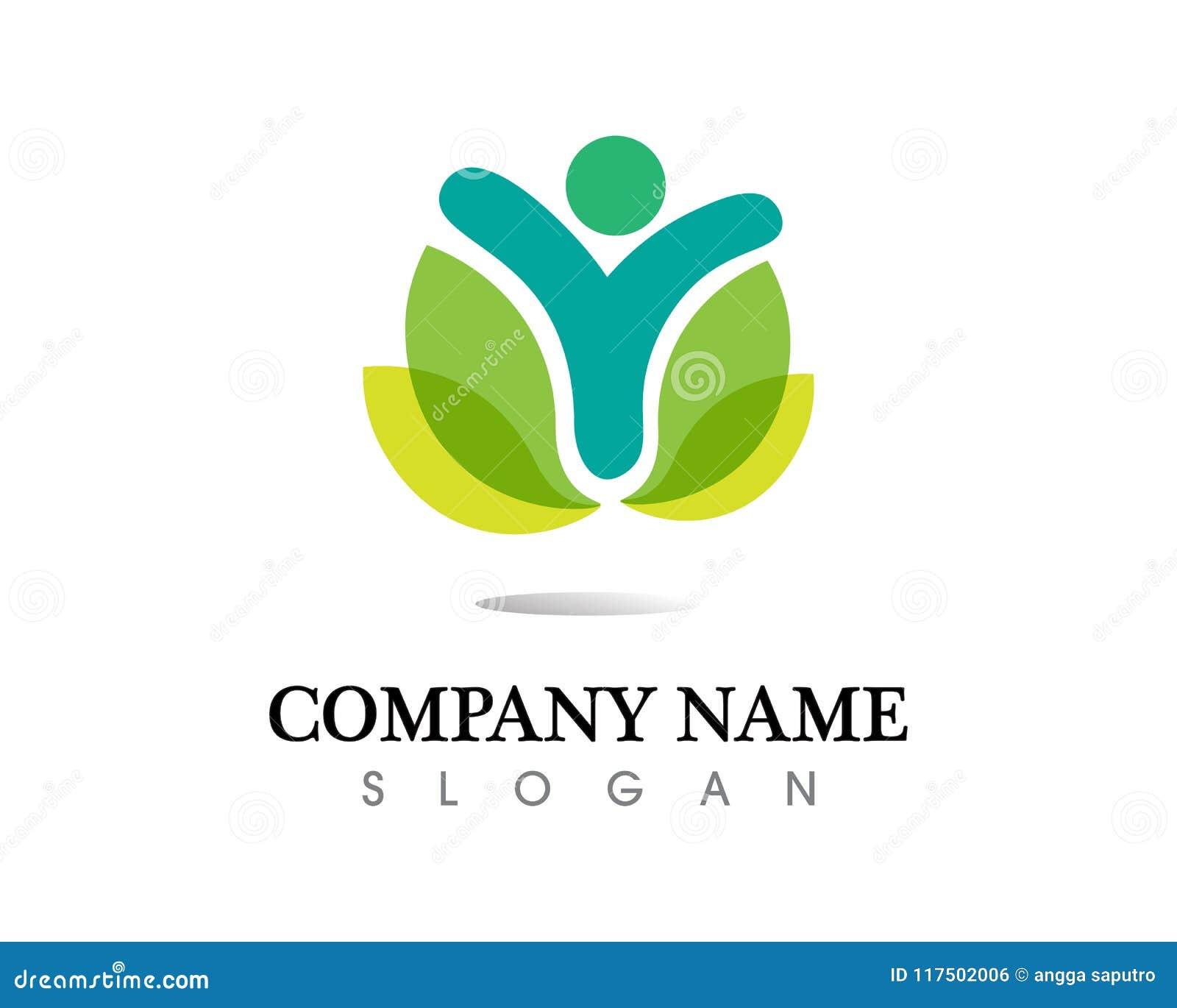 Logo di cura della gente della Comunità e modello di simboli