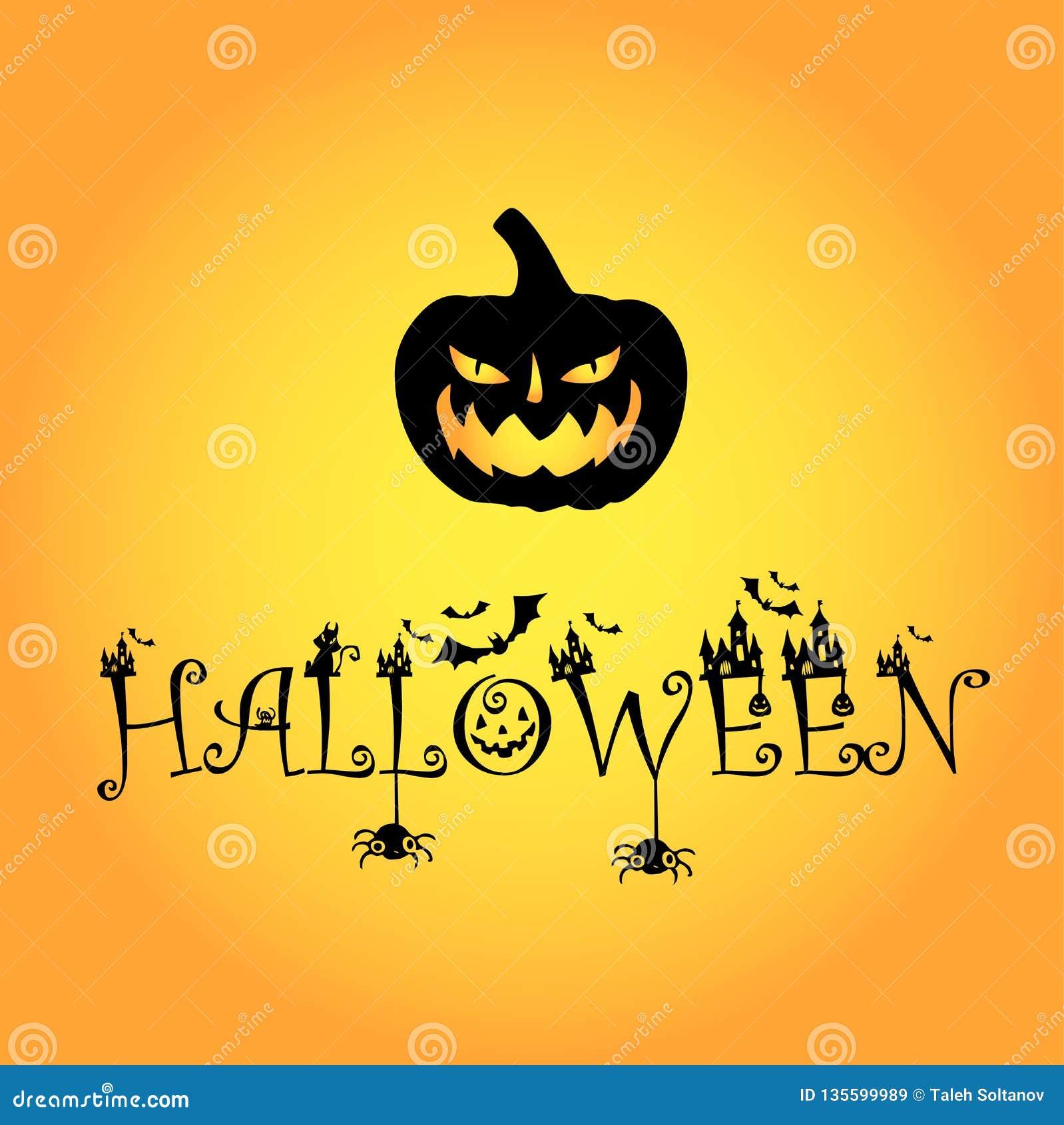 1 logo di Halloween del blackpumpkin della zucca