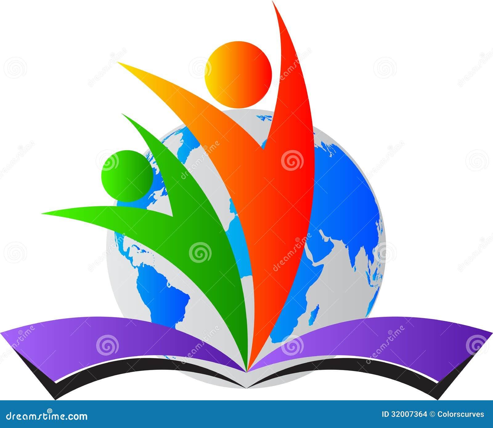 Logo di istruzione del mondo
