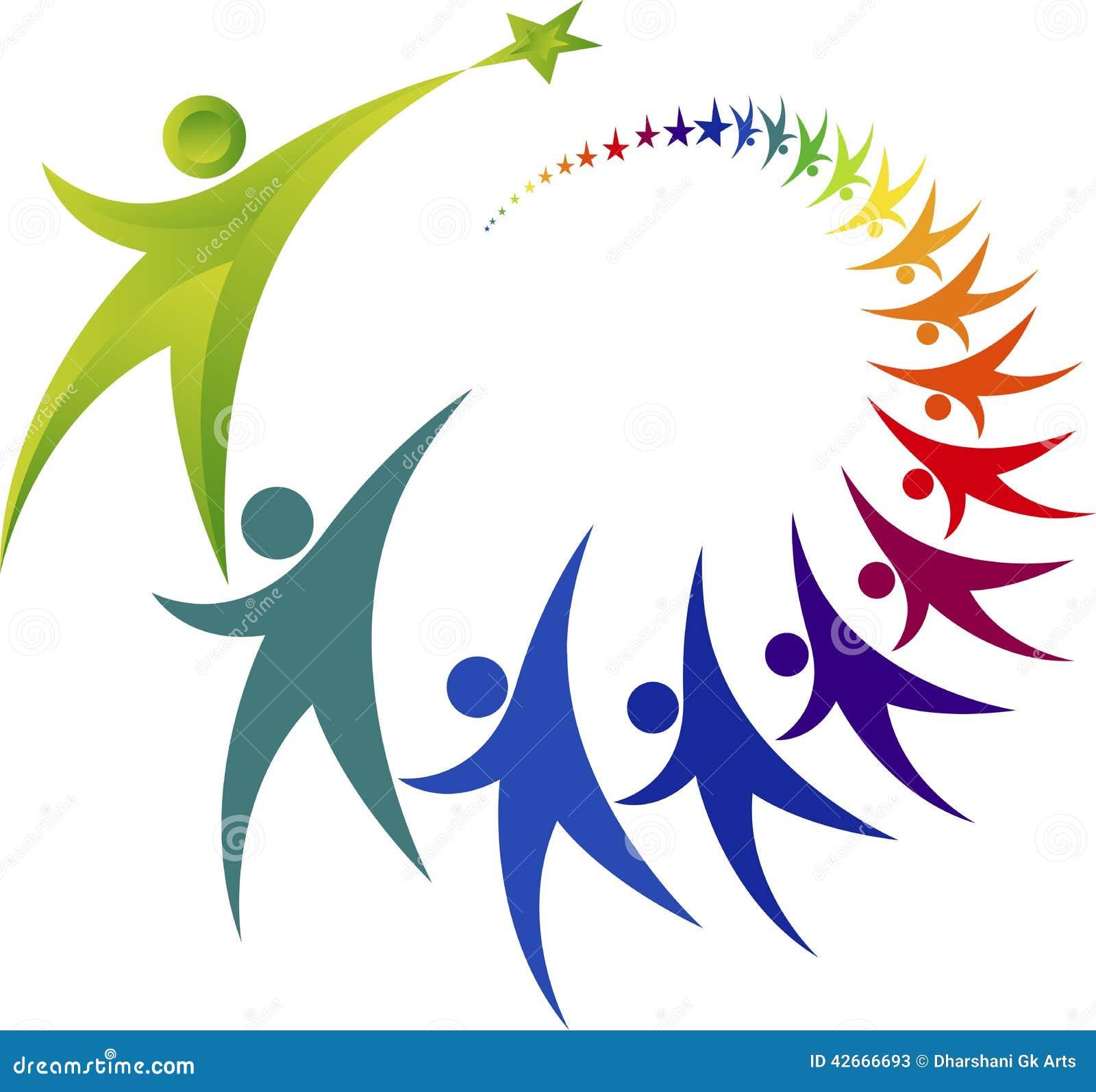 Logo di lavoro di squadra