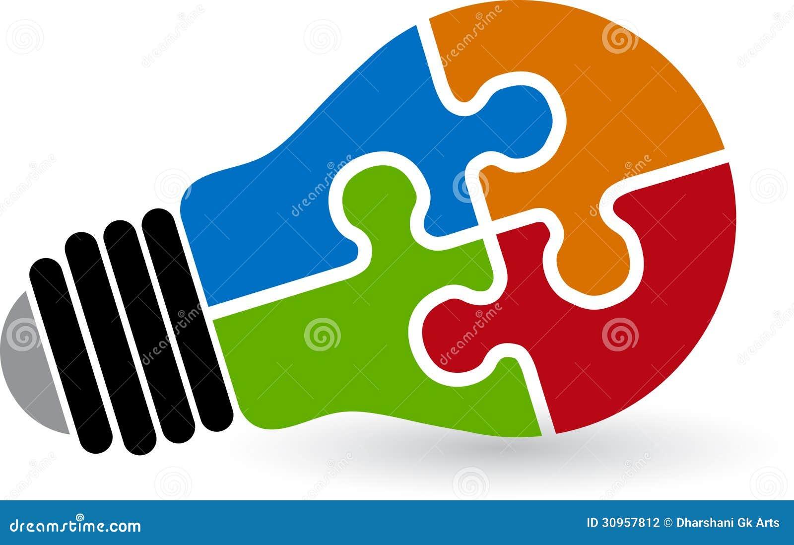 Logo di puzzle della lampada fotografia stock immagine - Collegamento stampabile un puzzle pix ...
