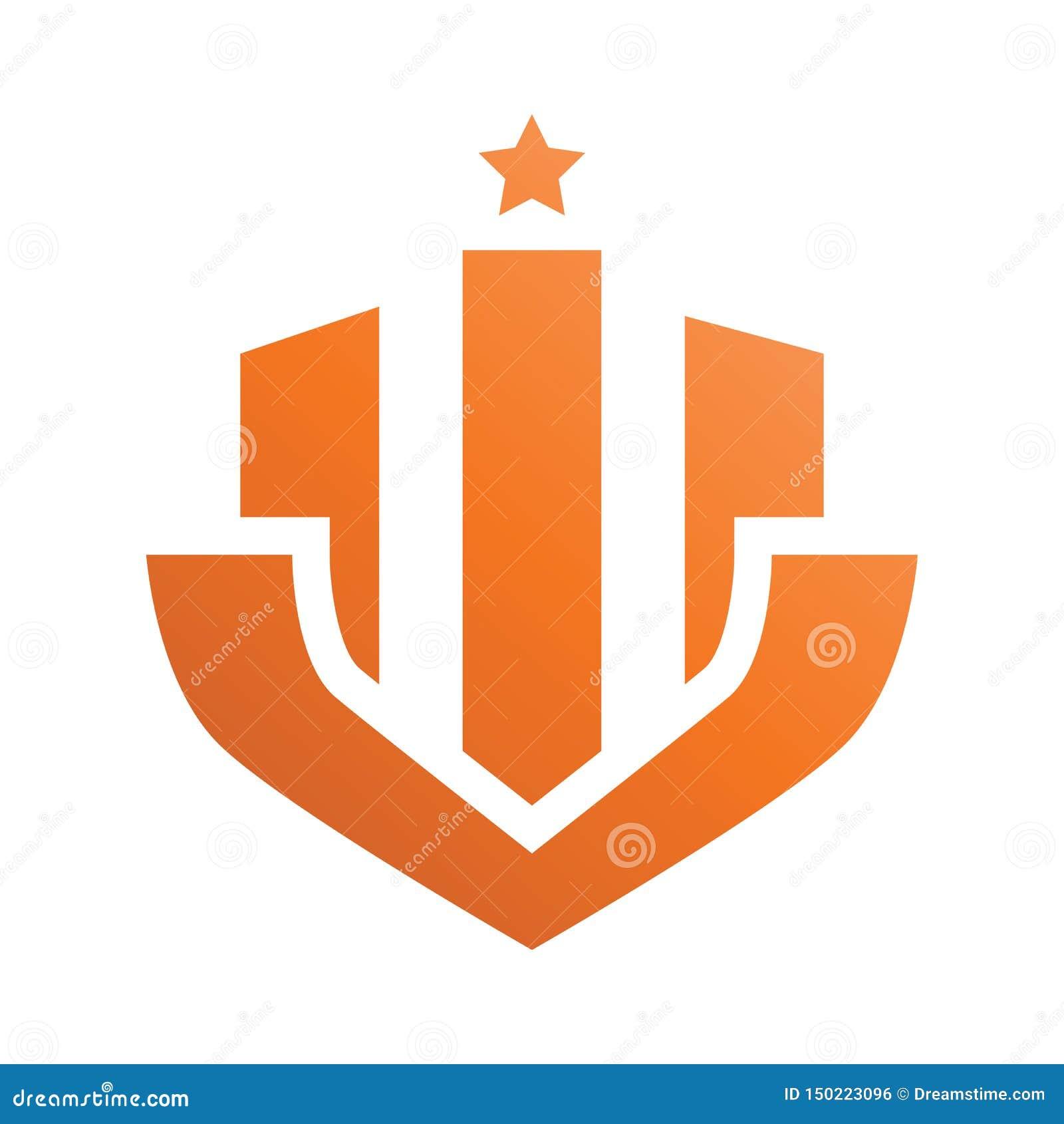 Logo di Real Estate della stella del distintivo