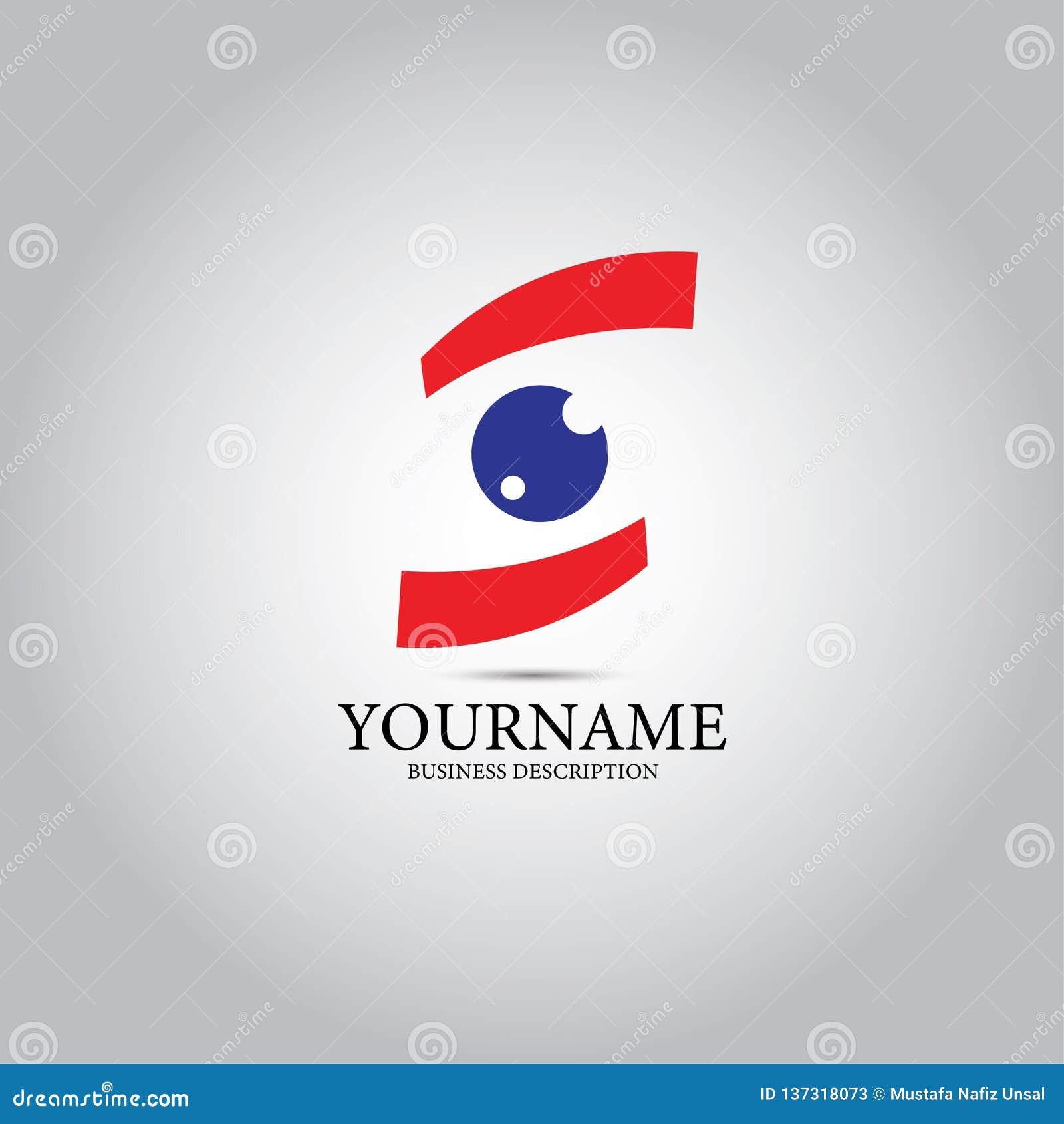 Logo di vettore di progettazione dell occhio