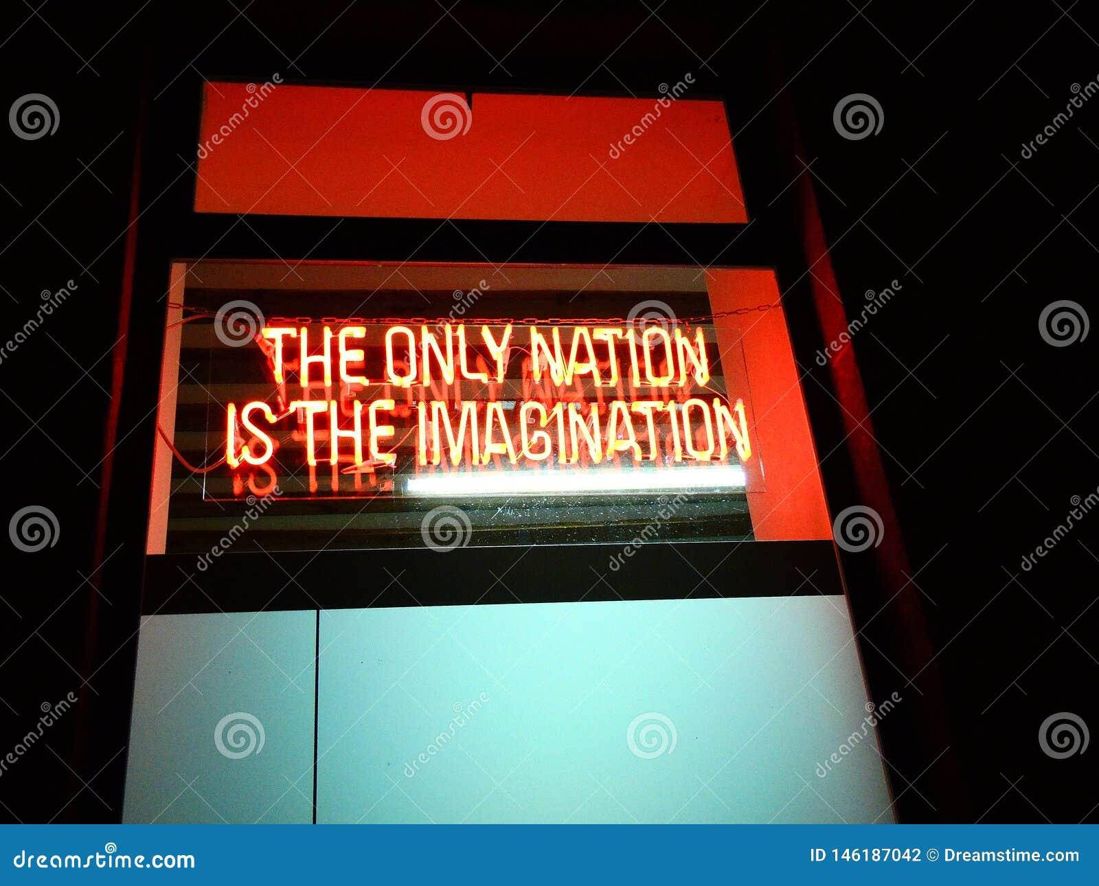Logo: Die einzige Nation ist die Fantasie