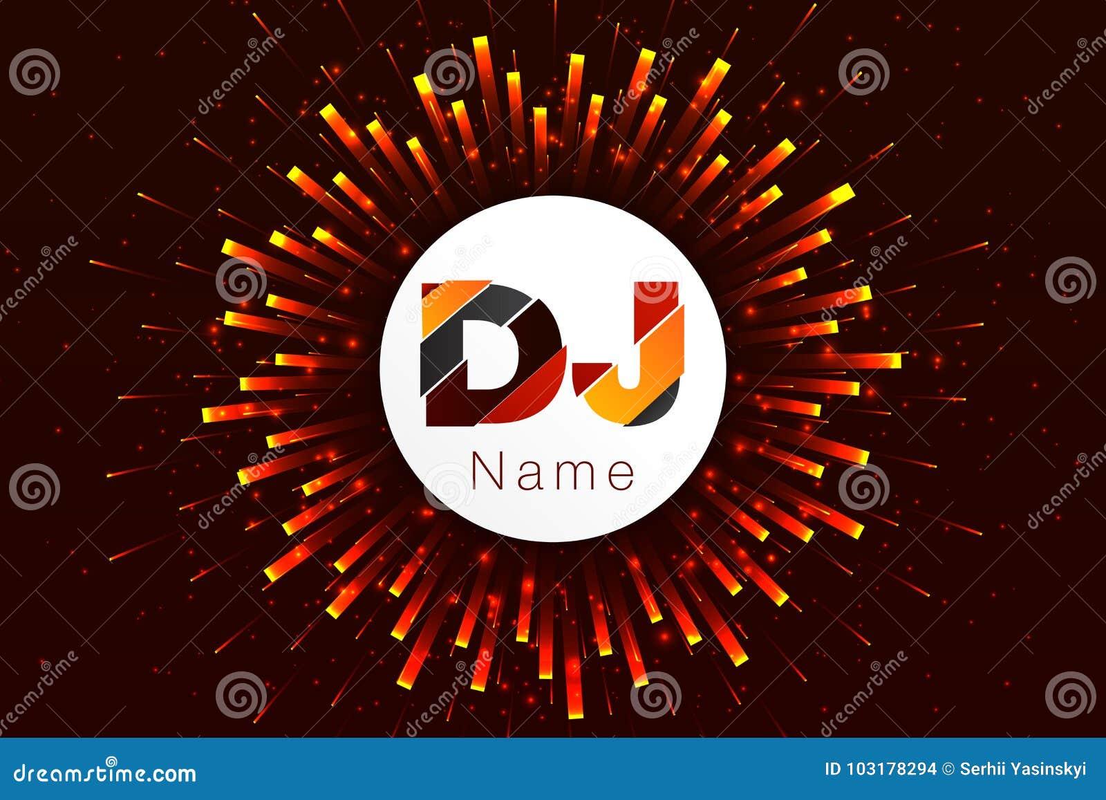 Logo DJ Template Design. Equalizer Stock Illustration - Illustration ...