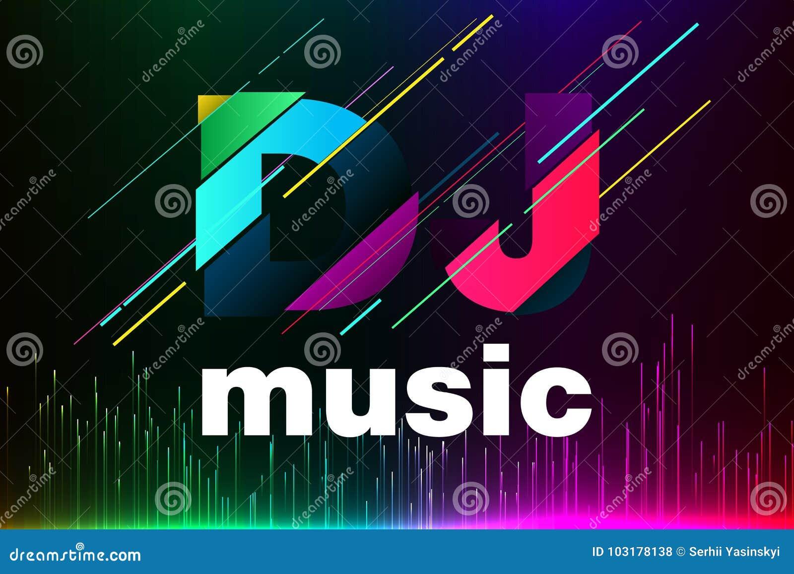 Logo DJ Template Design. Vector EPS 10 Stock Illustration ...