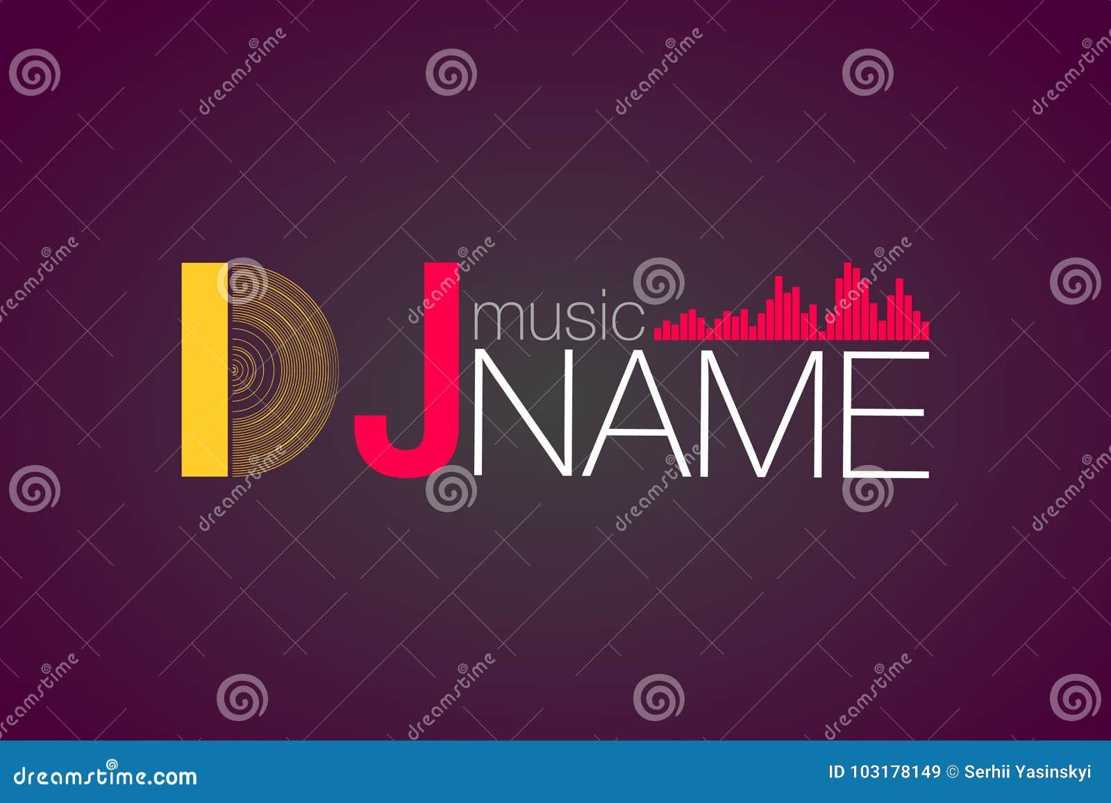 Logo DJ Vector Template Design. Vector EPS 10 Stock Vector ...