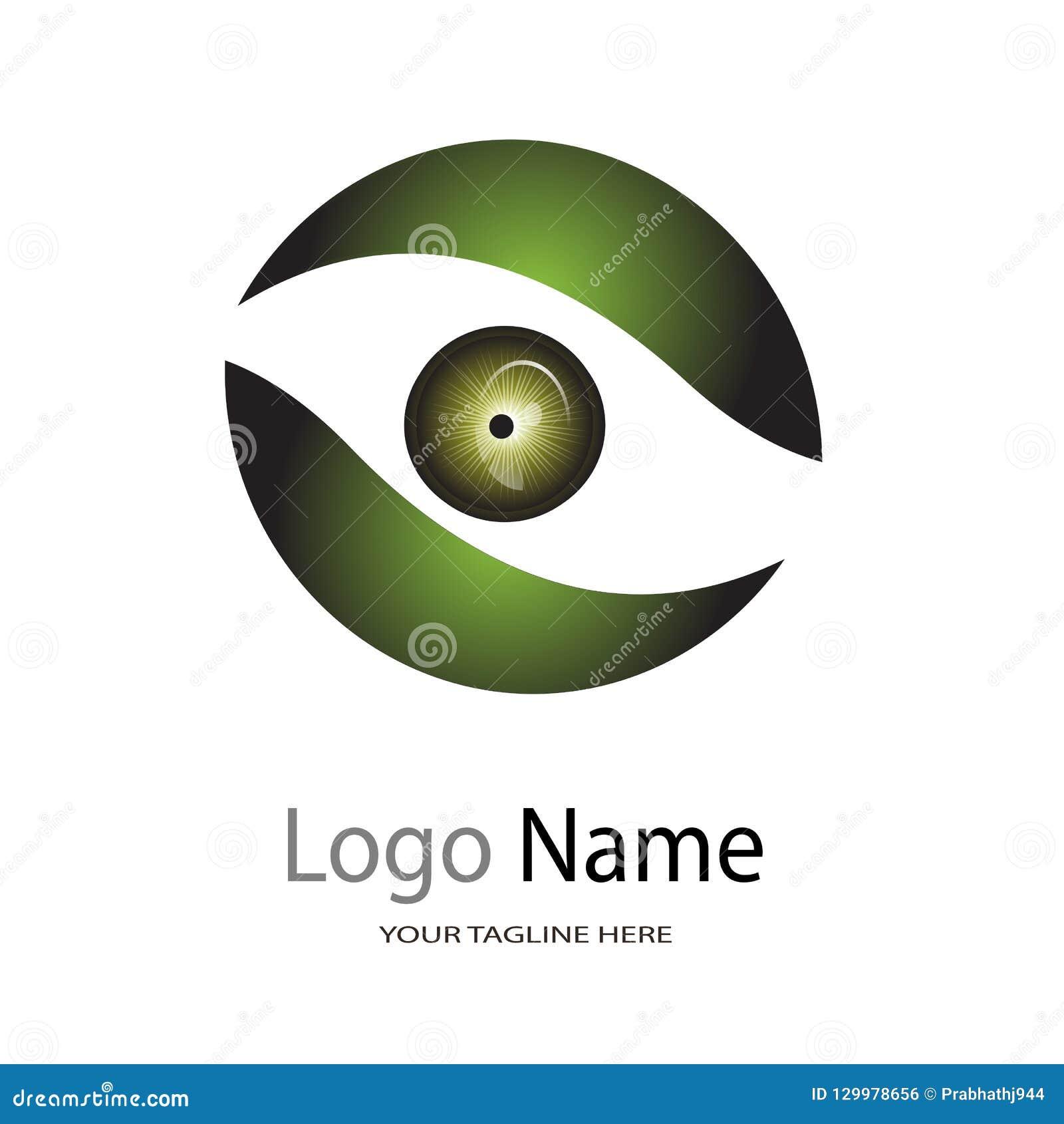 Logo dla oko szpitala, ilustracyjny logo na białym tle/oko opieki Centre, oko kliniki/