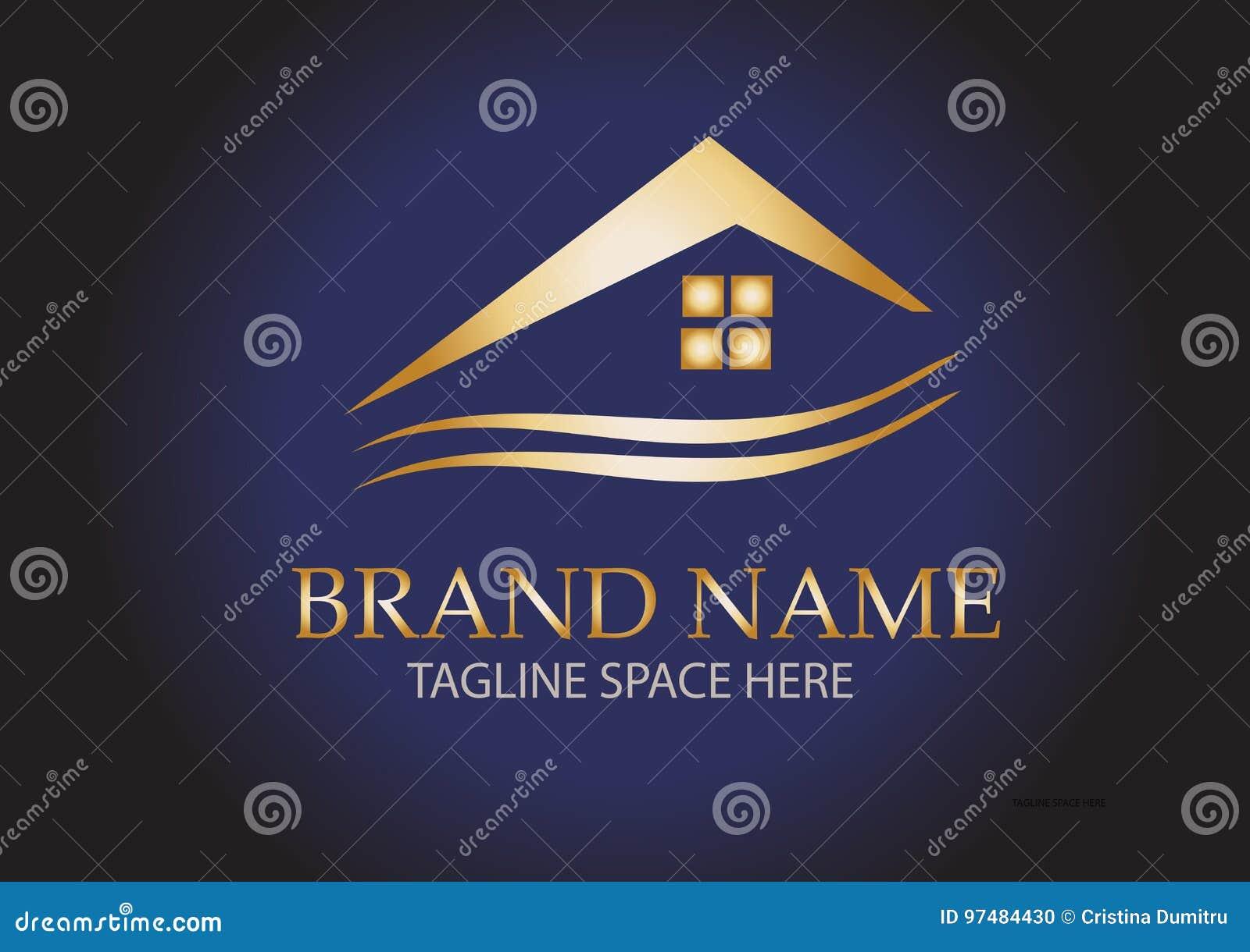 Logo domestico del tetto dell oro