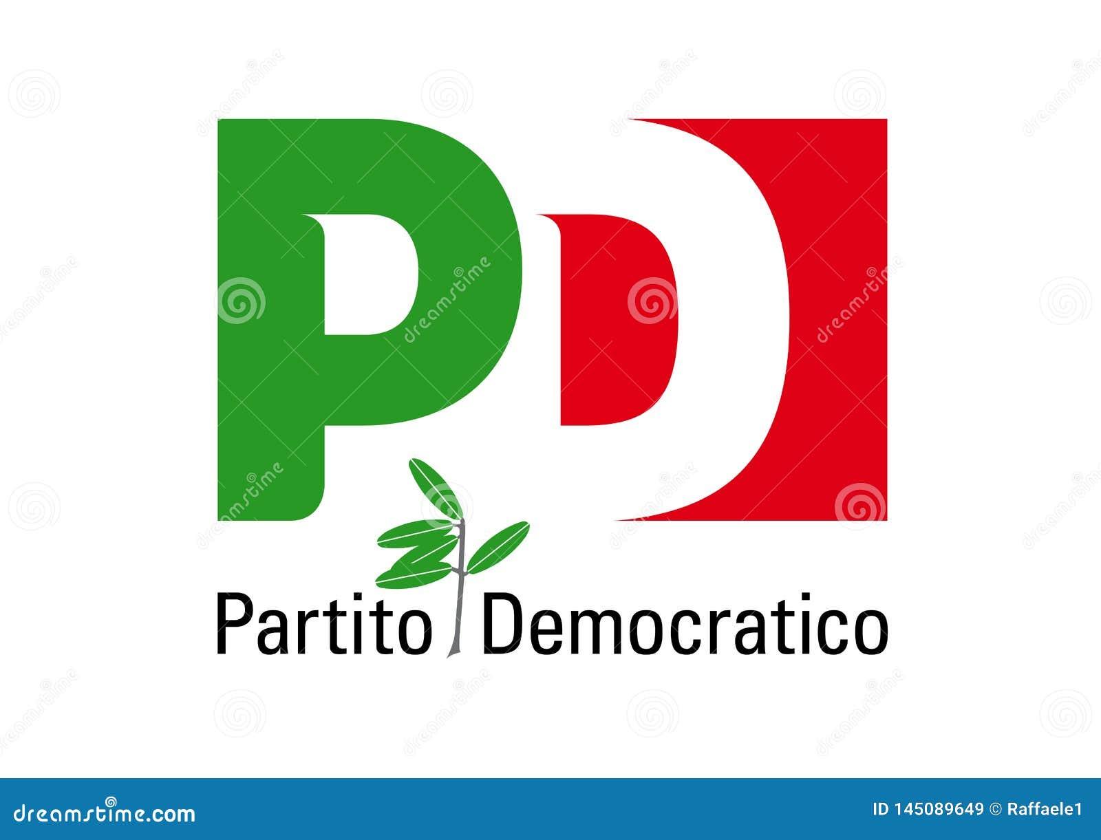 Logo du Partito Democratico, parti politique italien