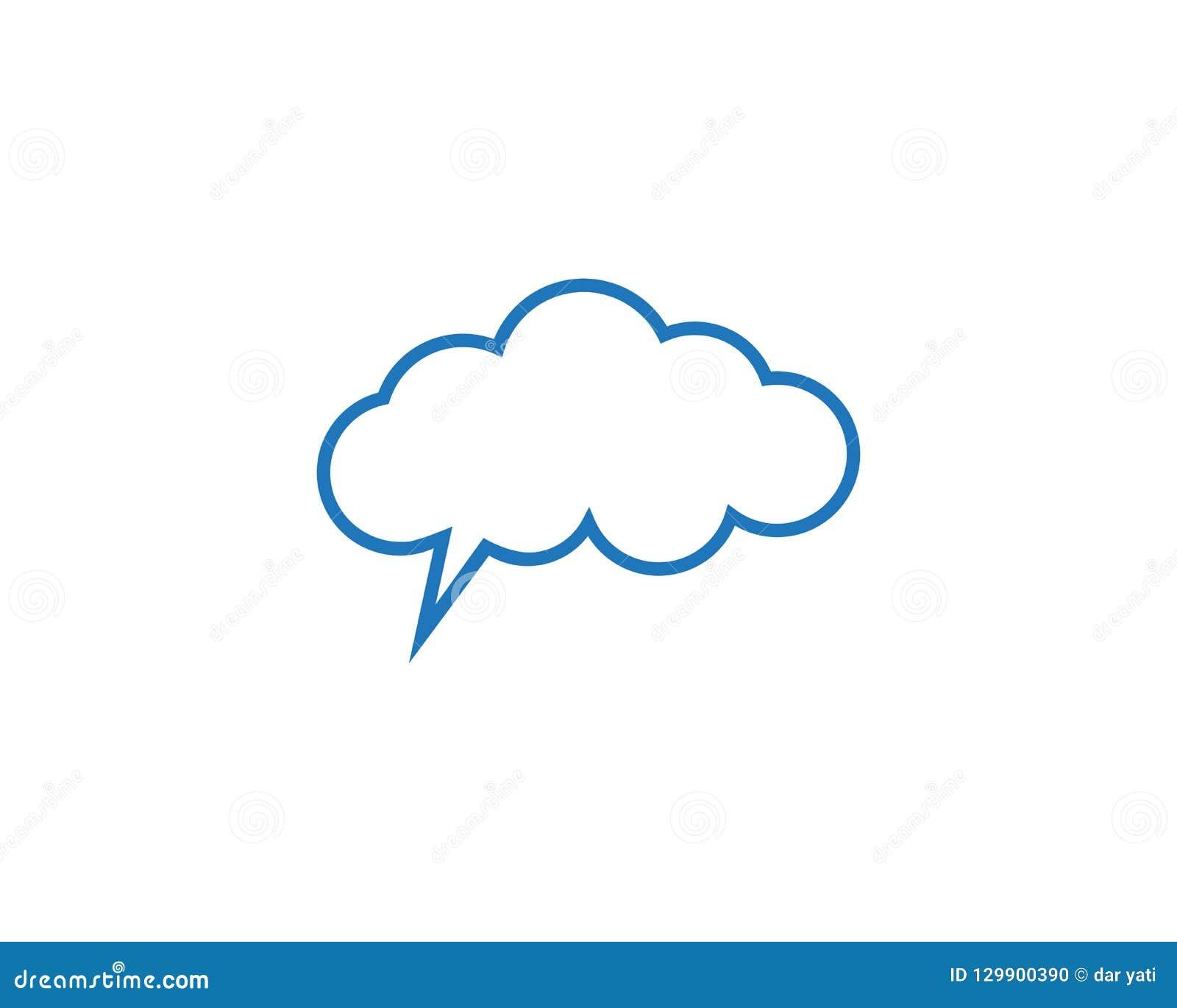 Logo e simboli di dati dei server della nuvola