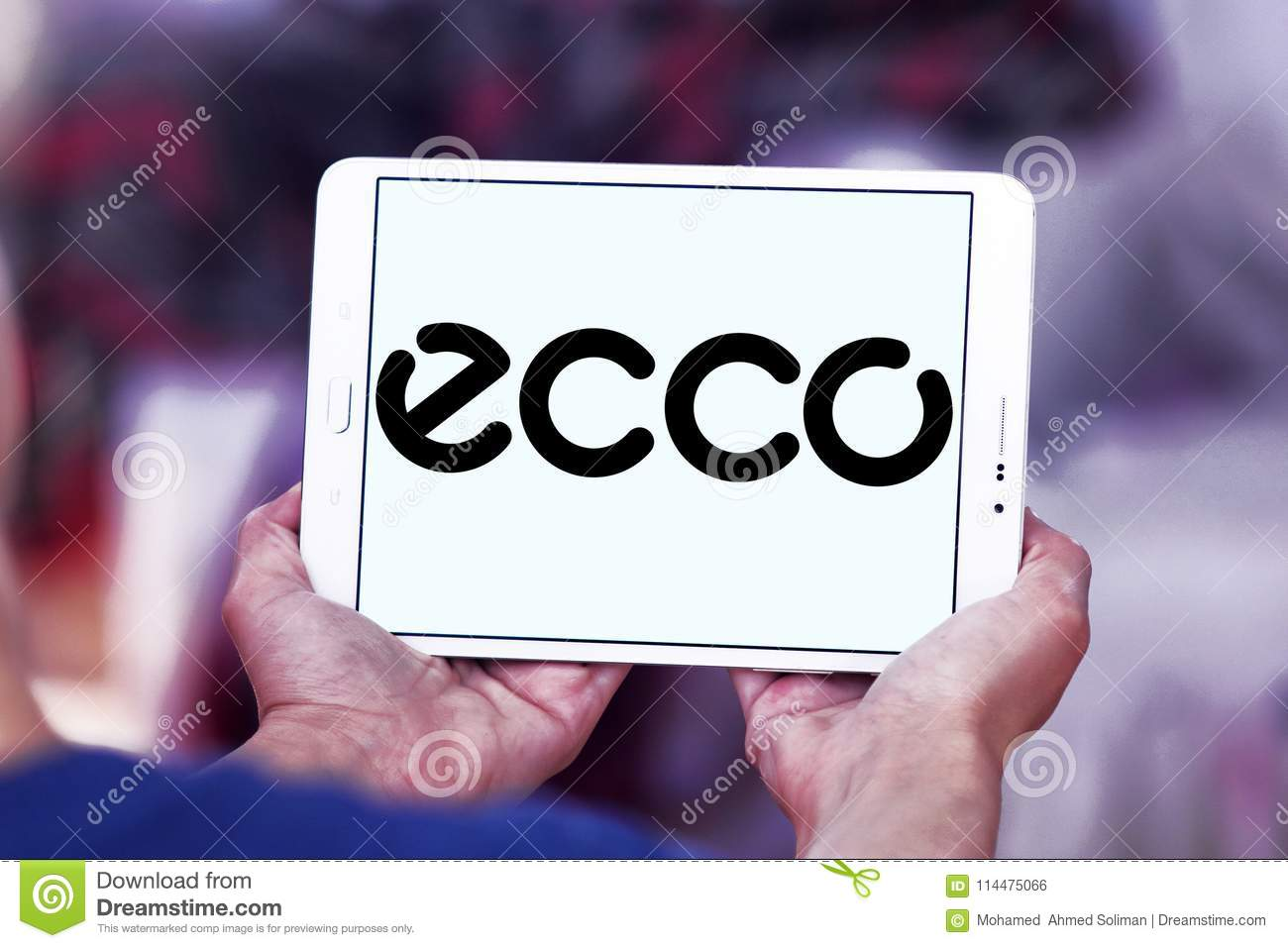 ECCO Shoe Manufacturer Logo Editorial Photography Image of
