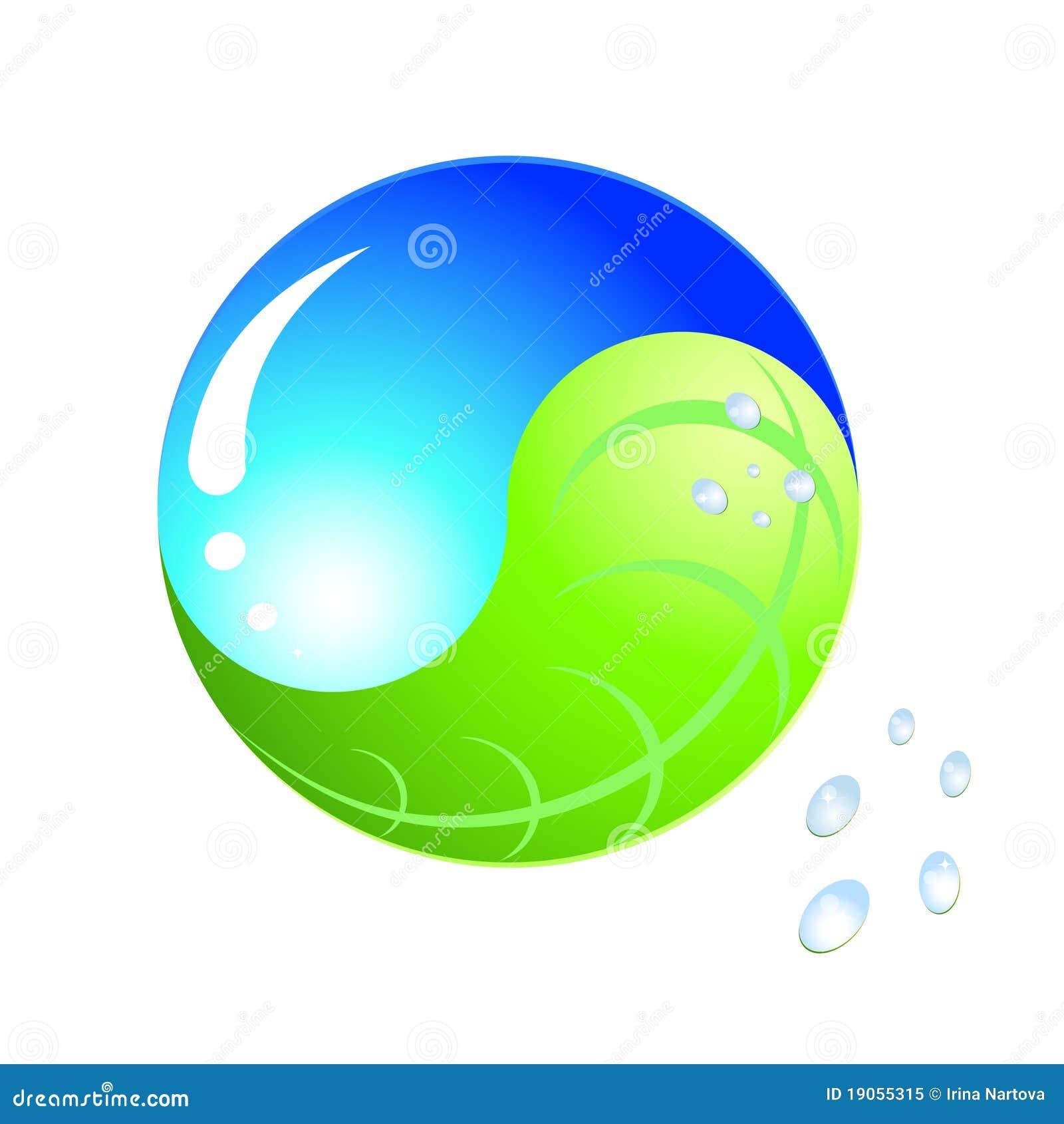 Logo Ecology Yinyang Royalty Free Stock Photo Image