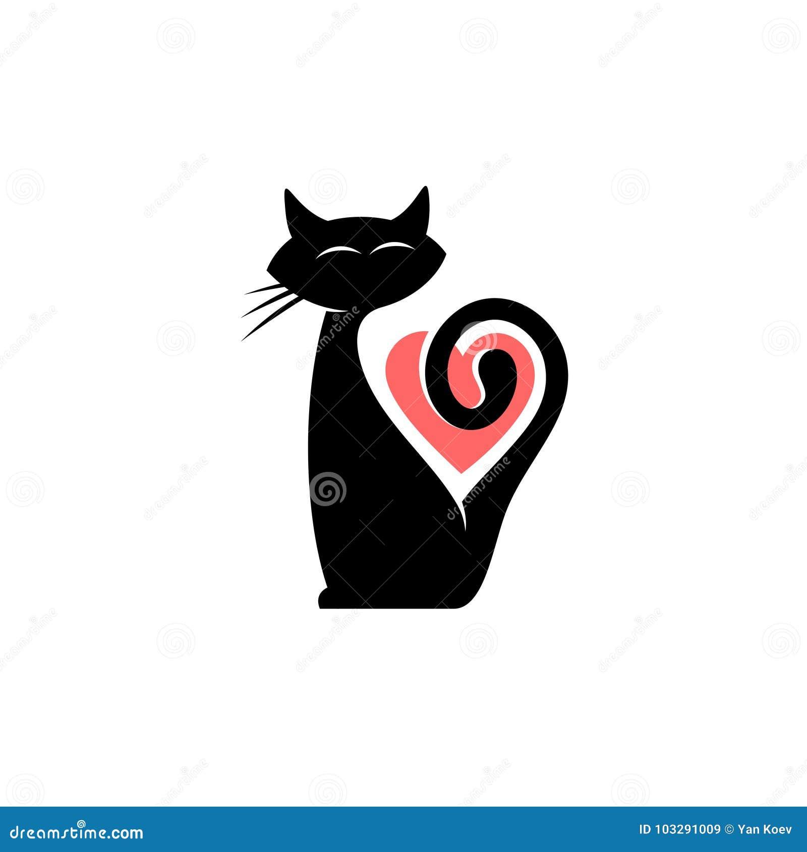 Logo elegante del gatto