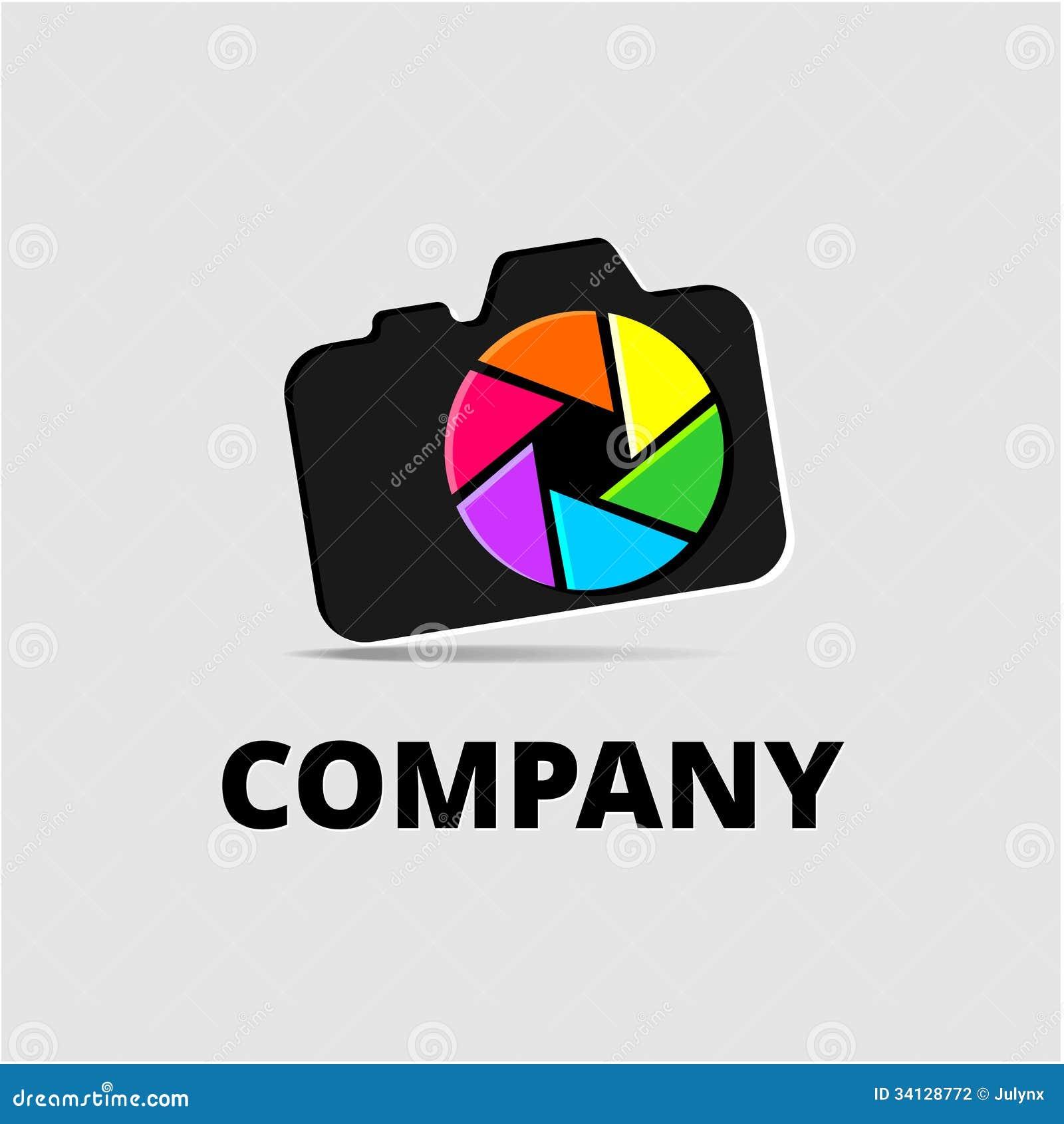 Camera Company Logo Logo element with camera stock