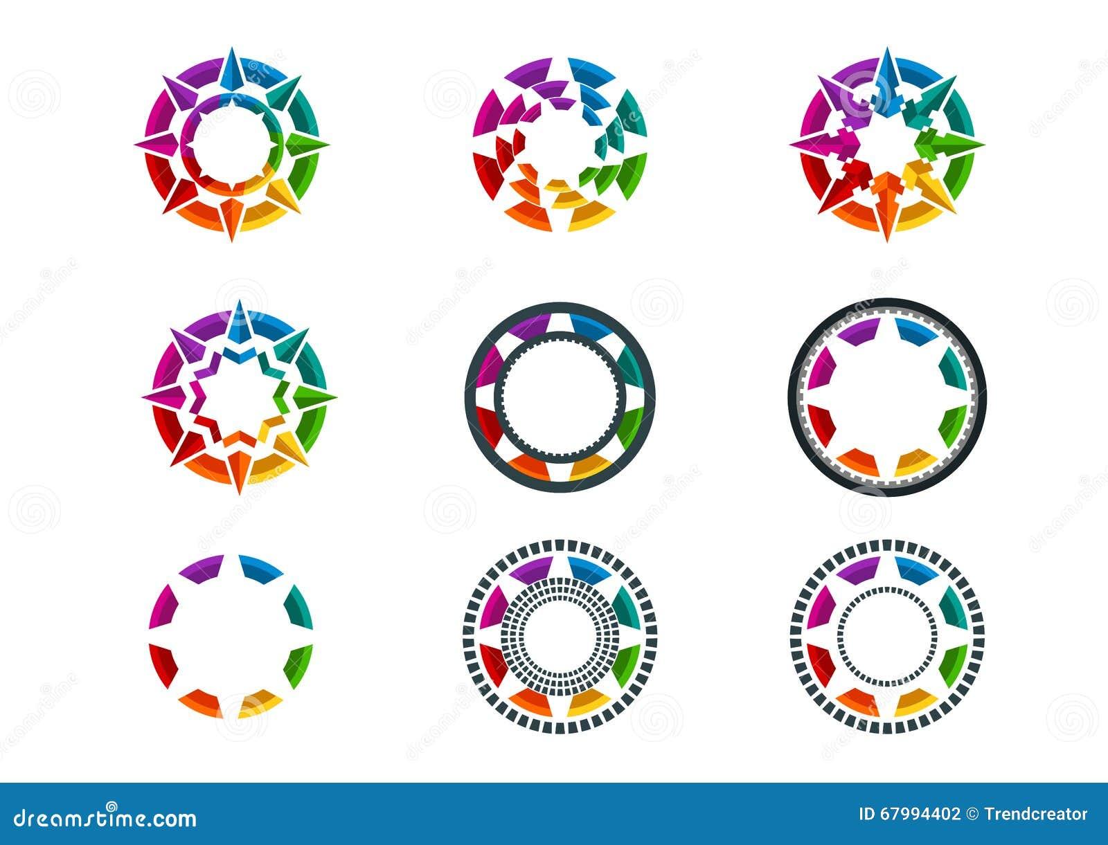 Logo, element, gwiazda, ikona, biznes, symbol, kula ziemska i technologii pojęcia projekt,