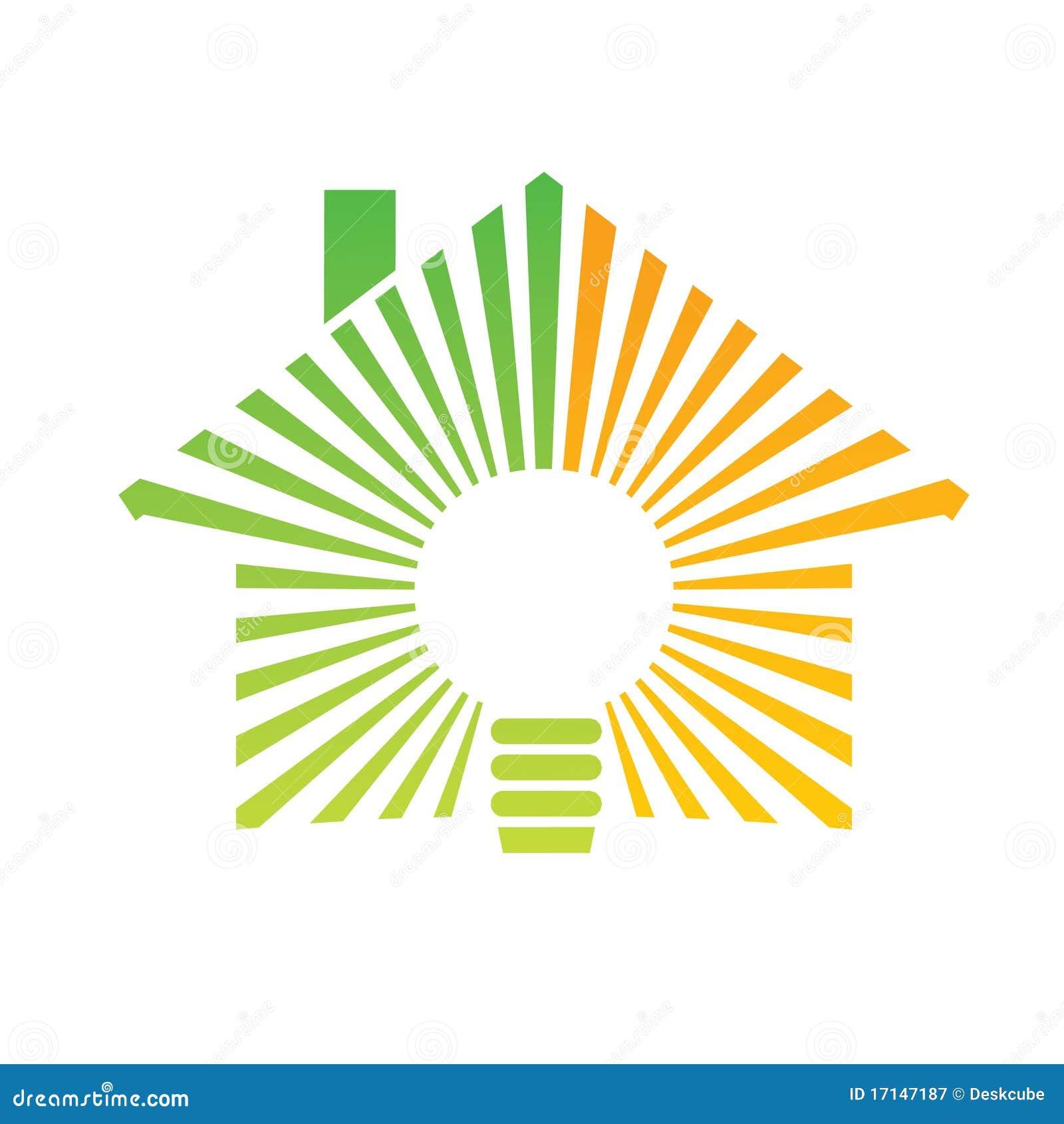 Logo Energy House Stock Vector. Image Of Investment, Light