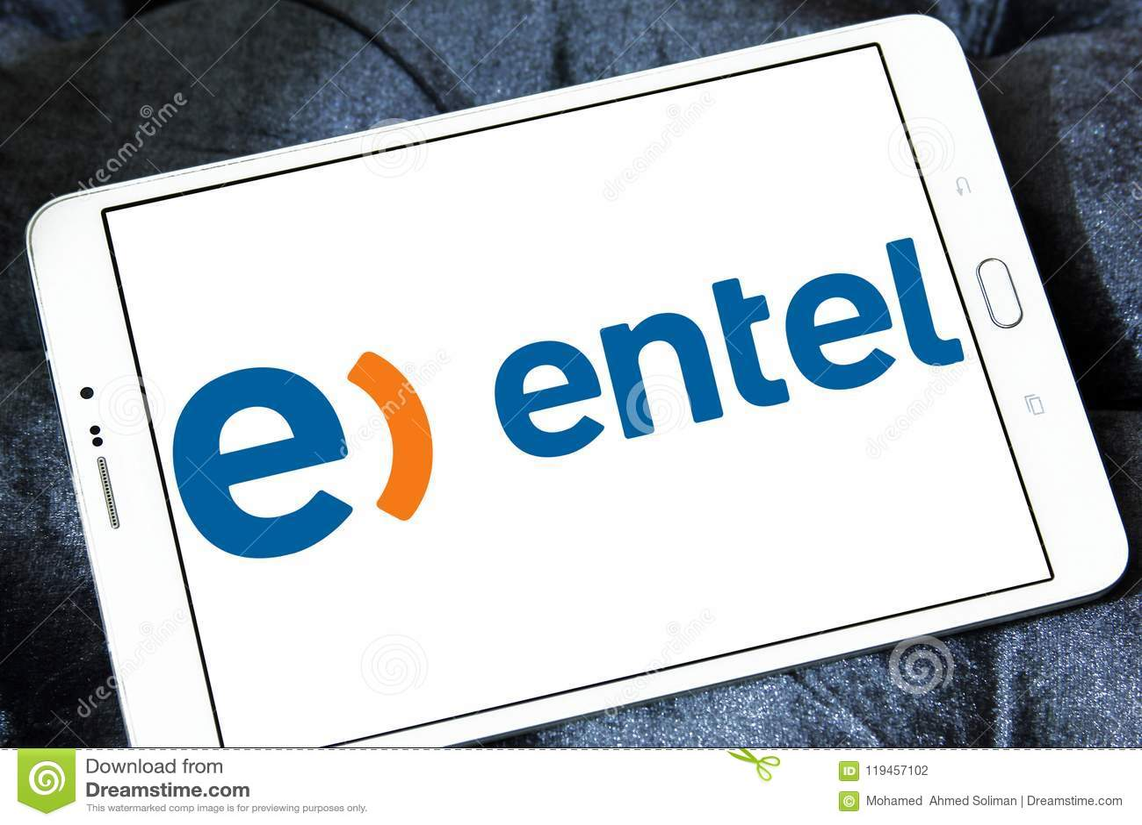 Entel Phone Mobile Operator Logo Editorial Photography Image Of