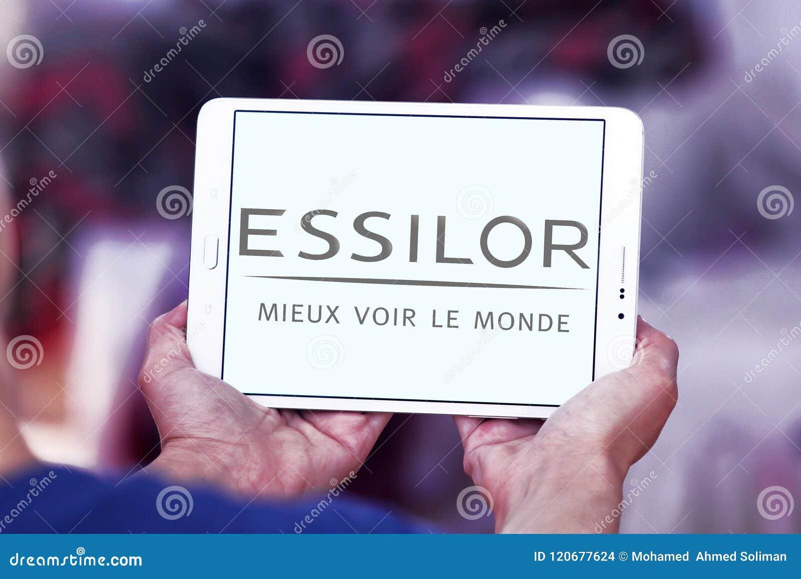 Essilor Optics Company Logo Editorial Stock Image - Image of