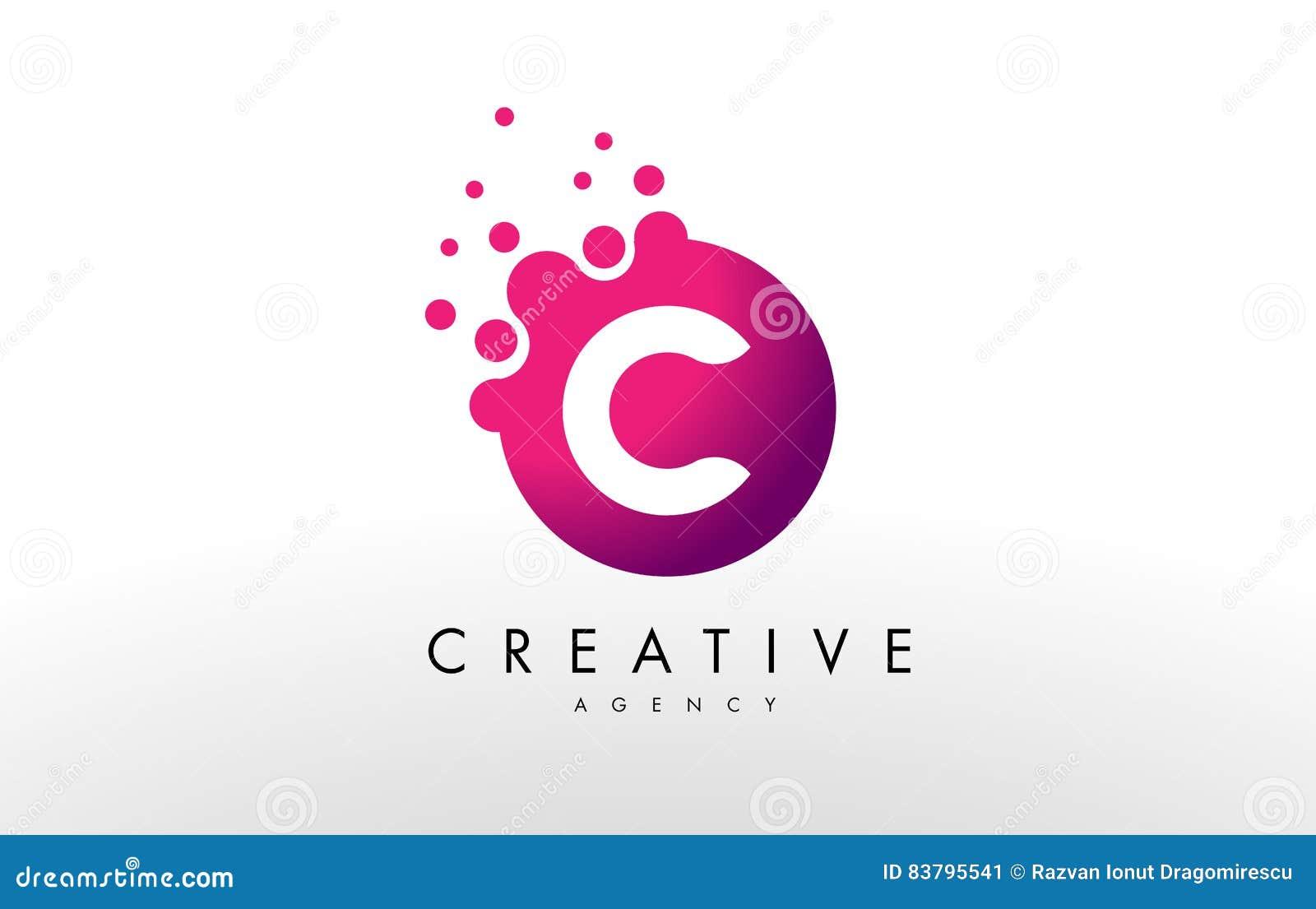 Logo för bokstav C Vektor för c-bokstavsdesign