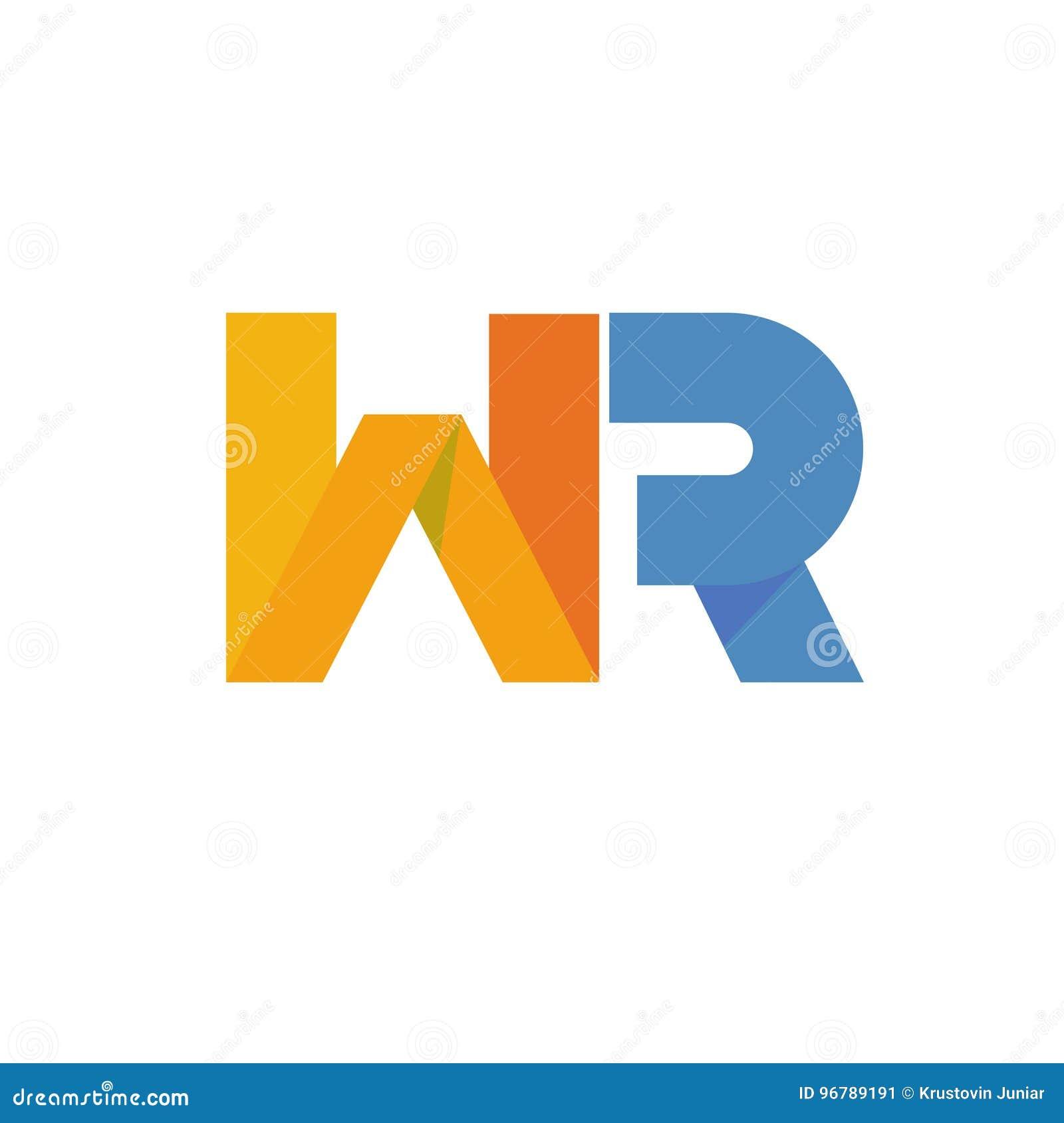 Logo för bokstav WR