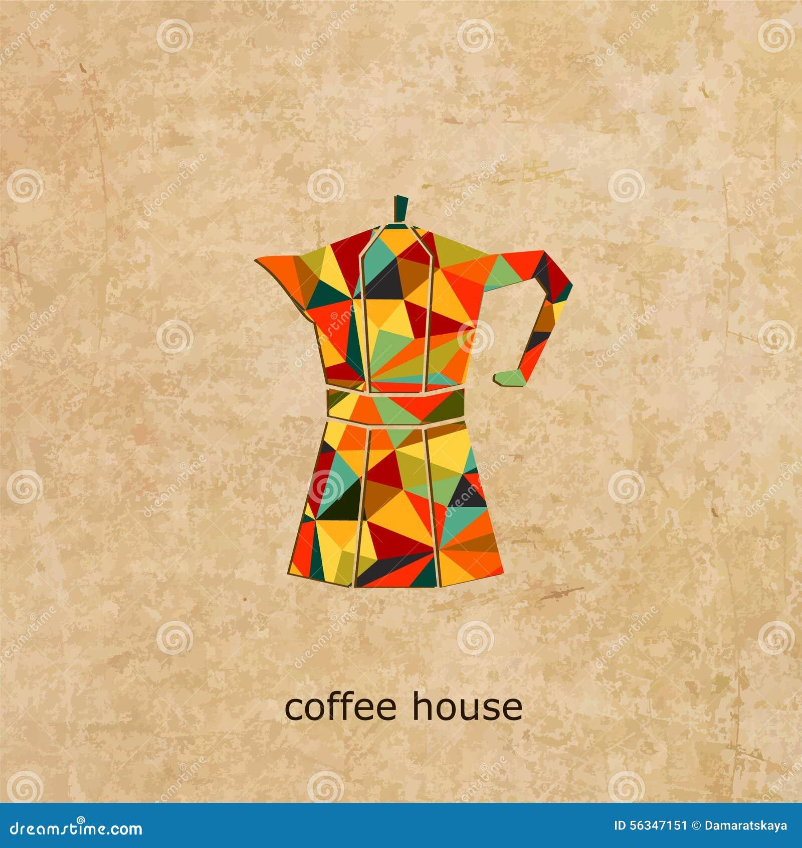 Logo för kaffehusvektor