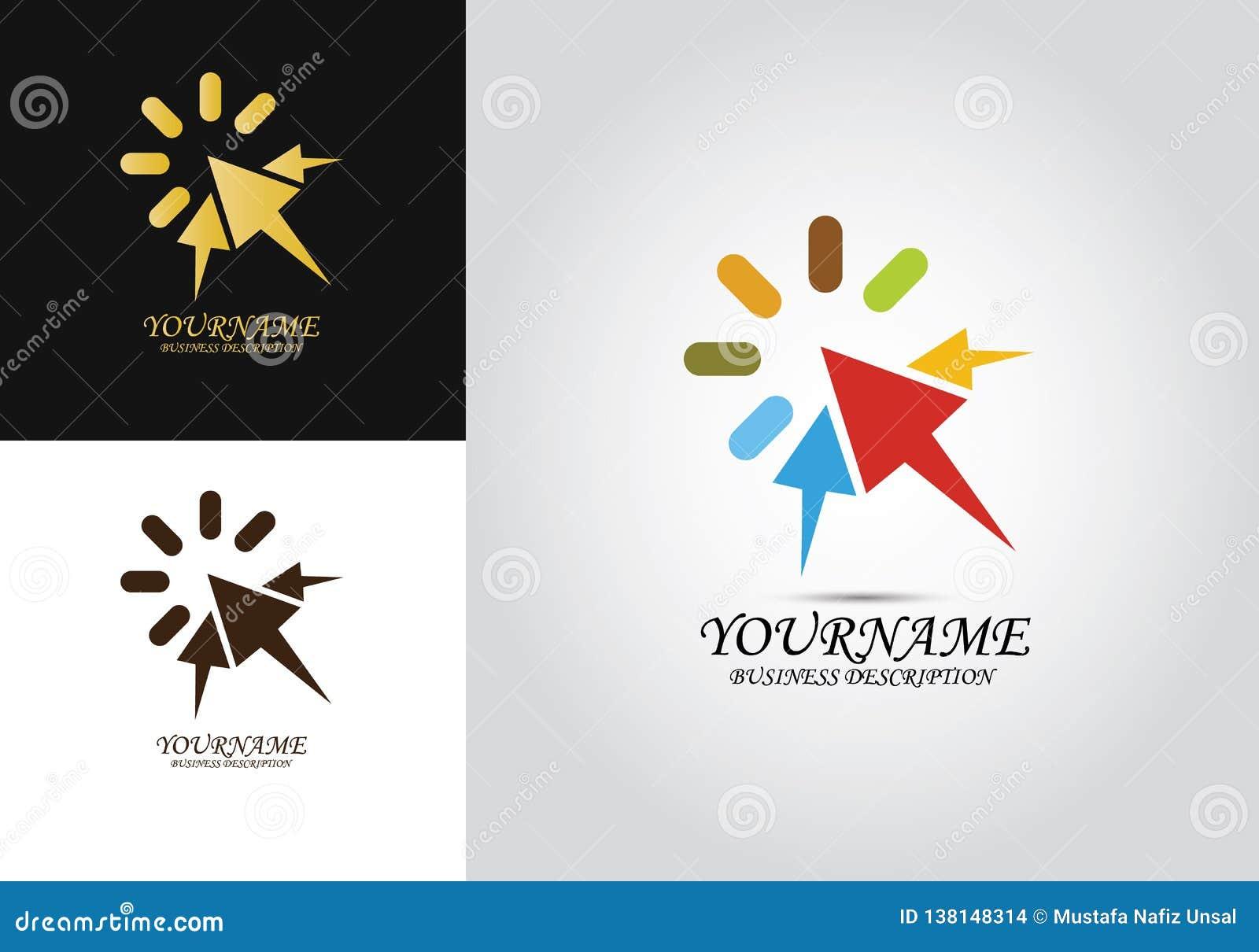 Logo för klickpildesign