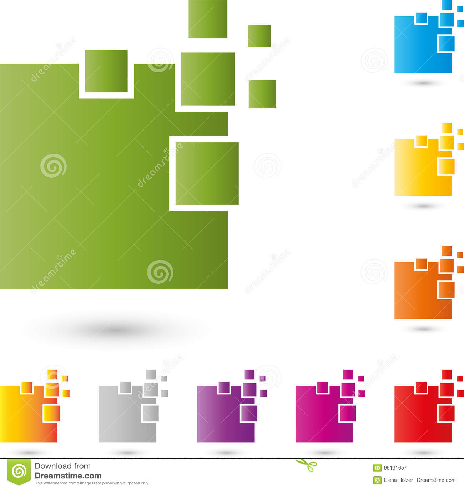 Logo för många rektanglar, PIXEL, data och IT-service