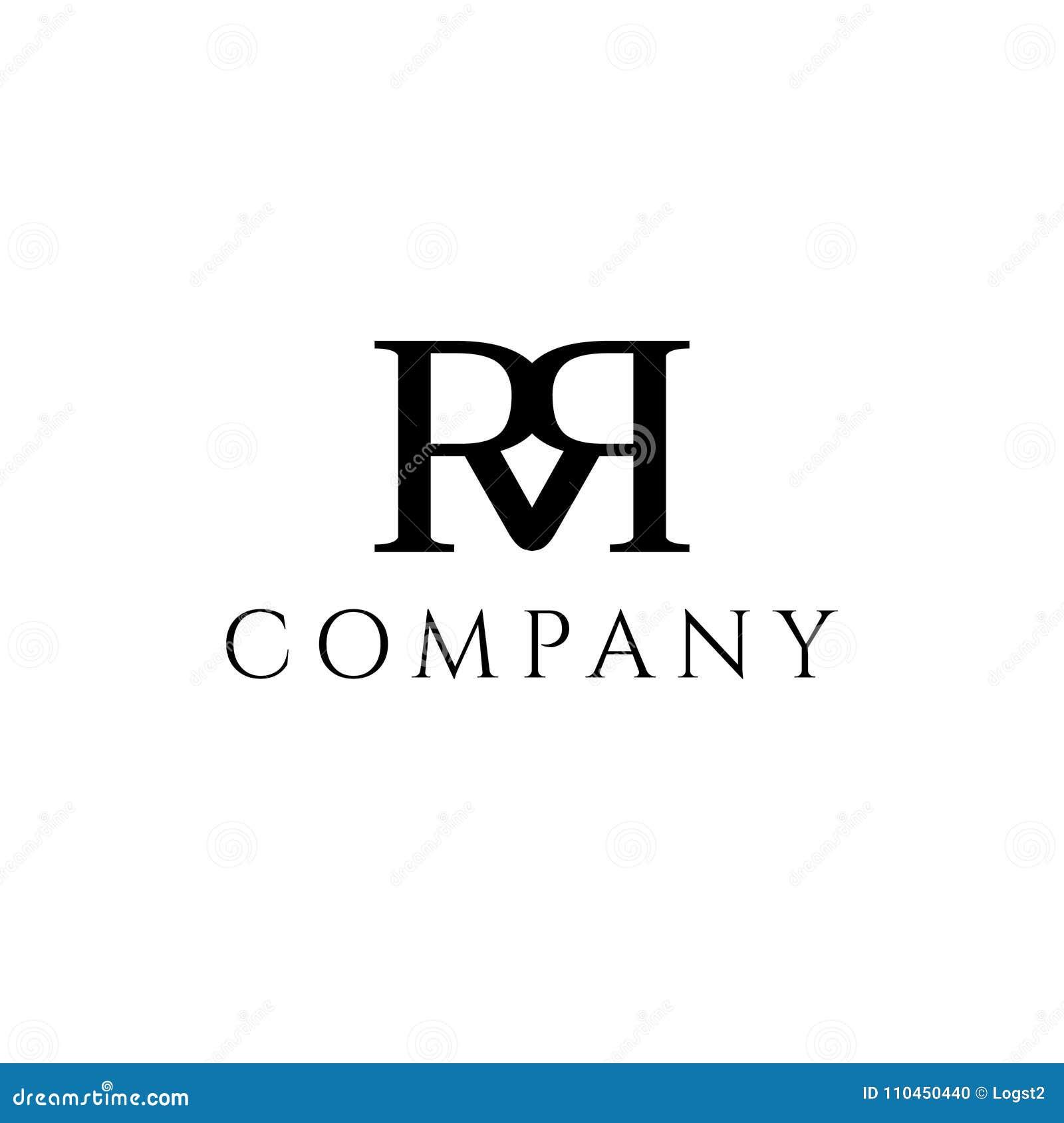Logo för r- och r-bokstavsvektor
